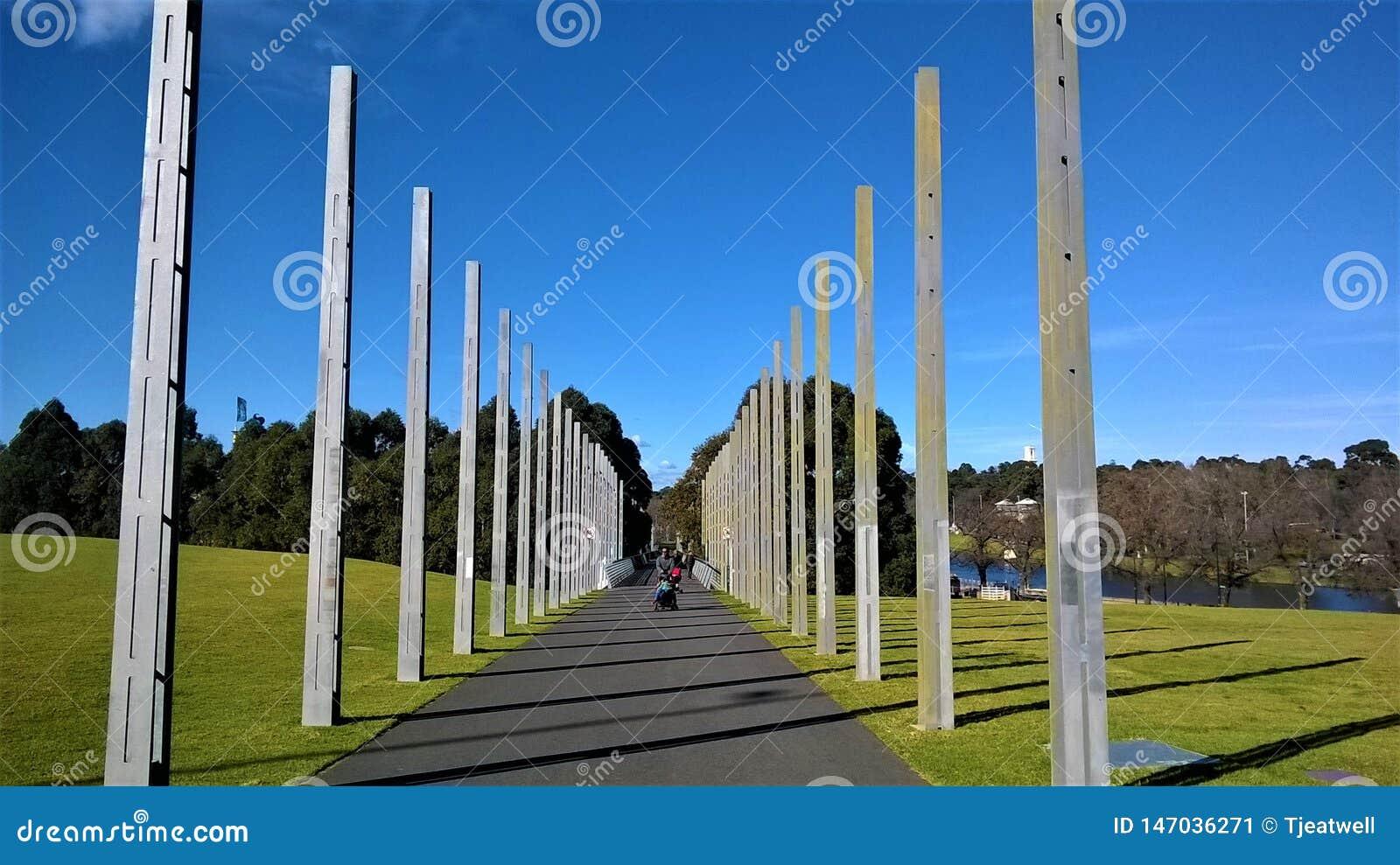 Arte di Melbourne Australia nel parco