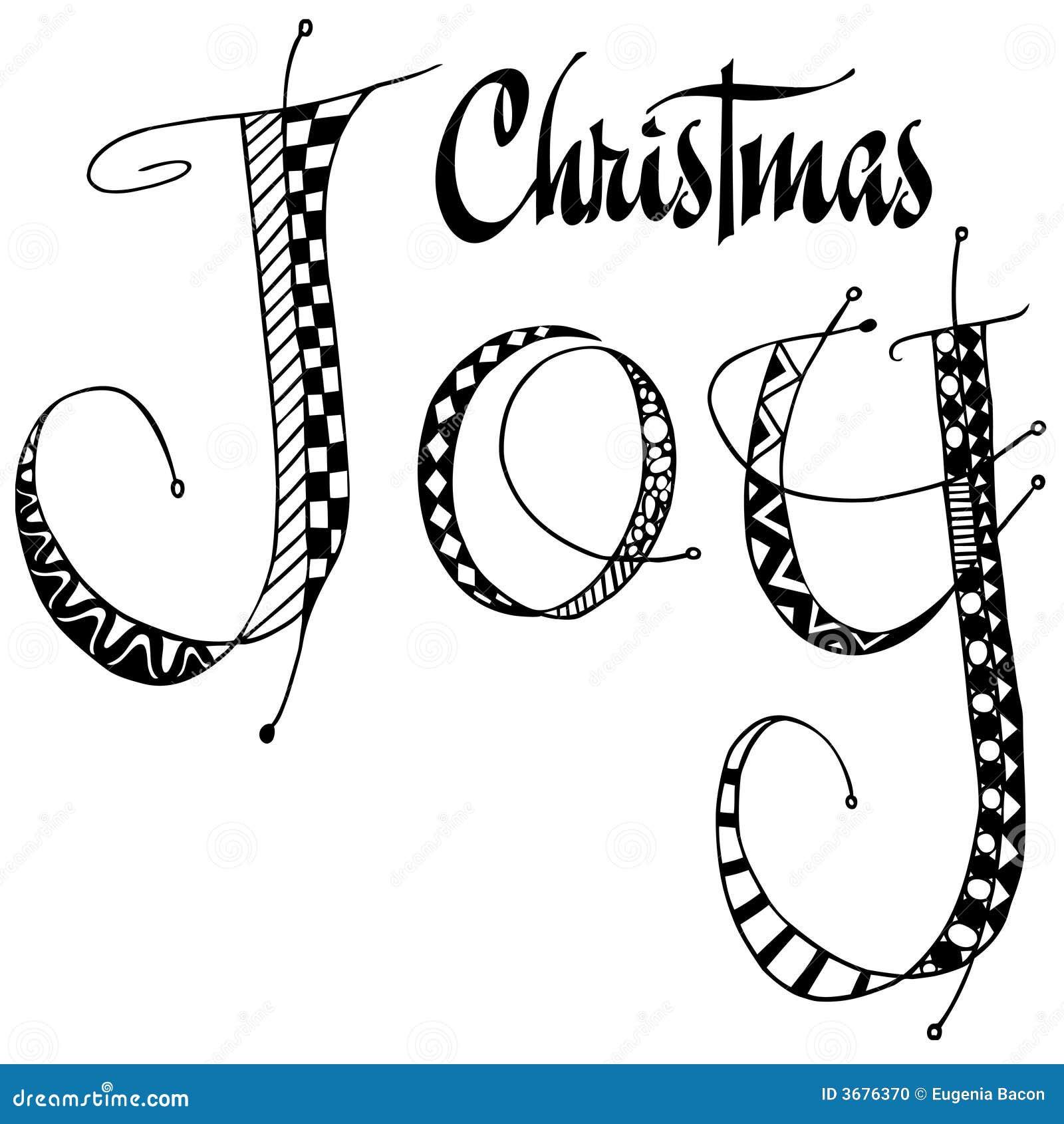 Download Arte Di Parola Di Gioia Di Natale Illustrazione di Stock - Illustrazione di feste, natale: 3676370