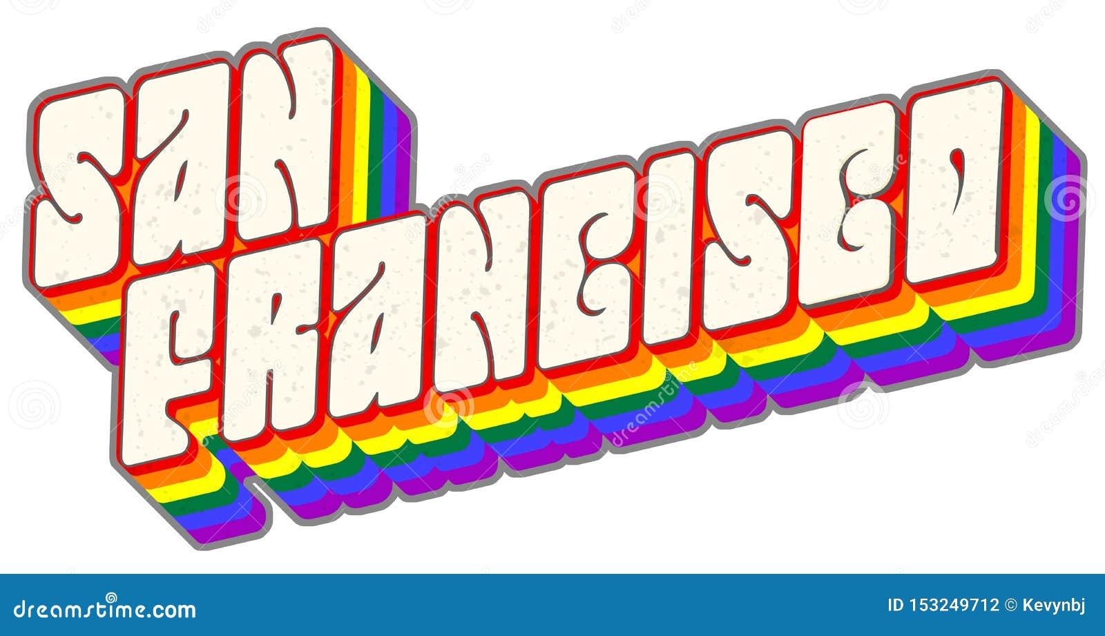 Arte di San Francisco Gay Pride Lettering Logo