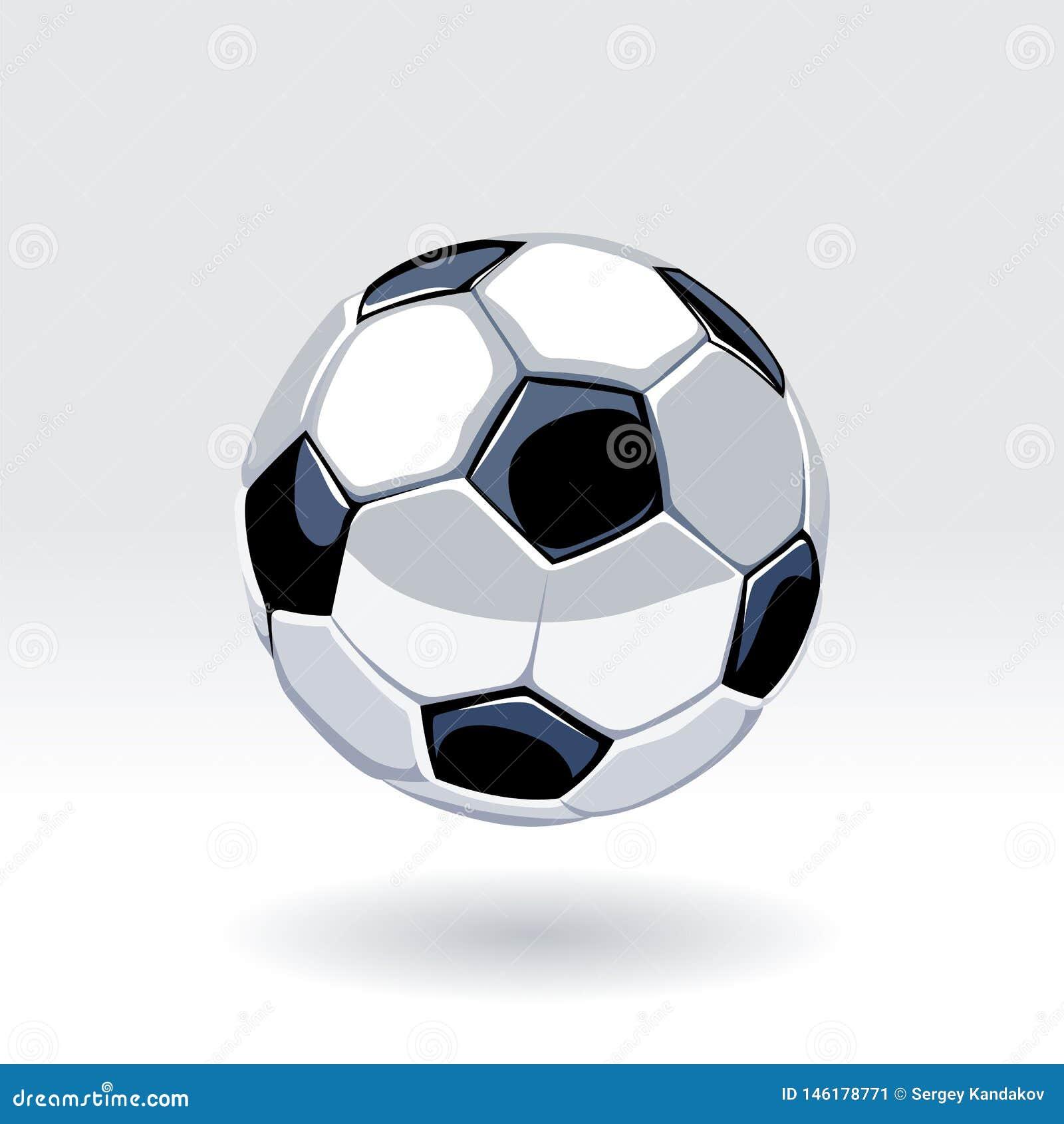 Arte di vettore del pallone da calcio