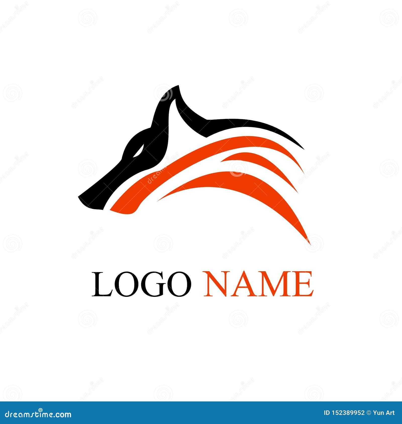 Arte do projeto do logotipo do lobo