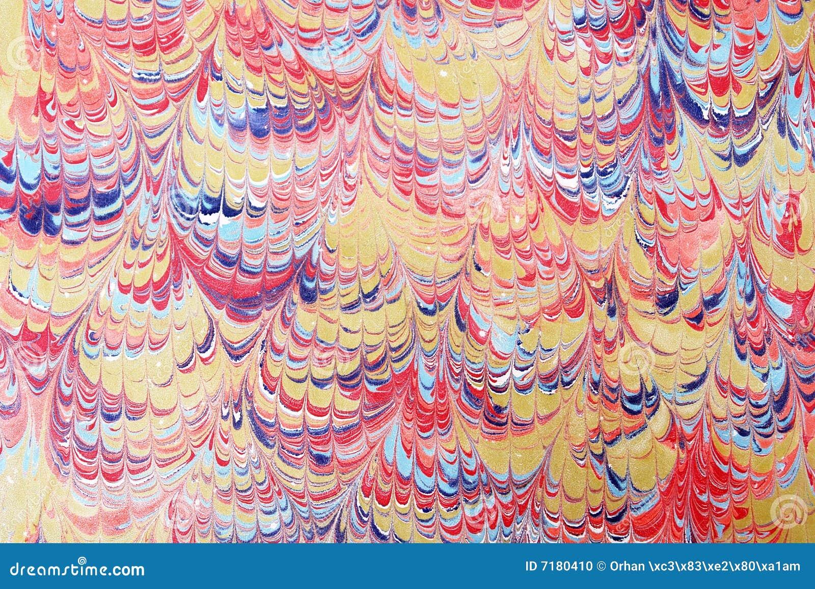 Arte -final do papel marmoreado