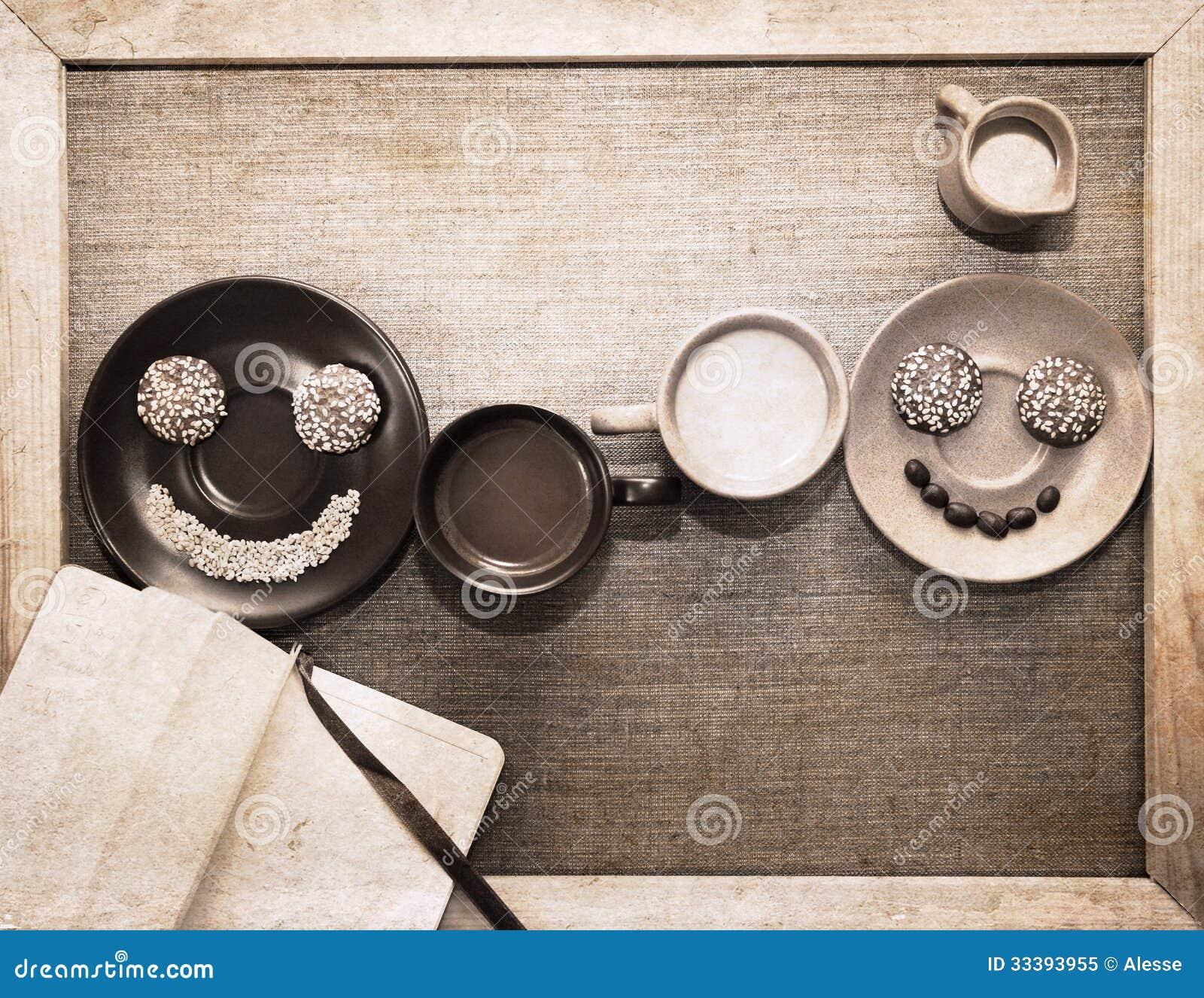 Arte finala no estilo do grunge, café da manhã