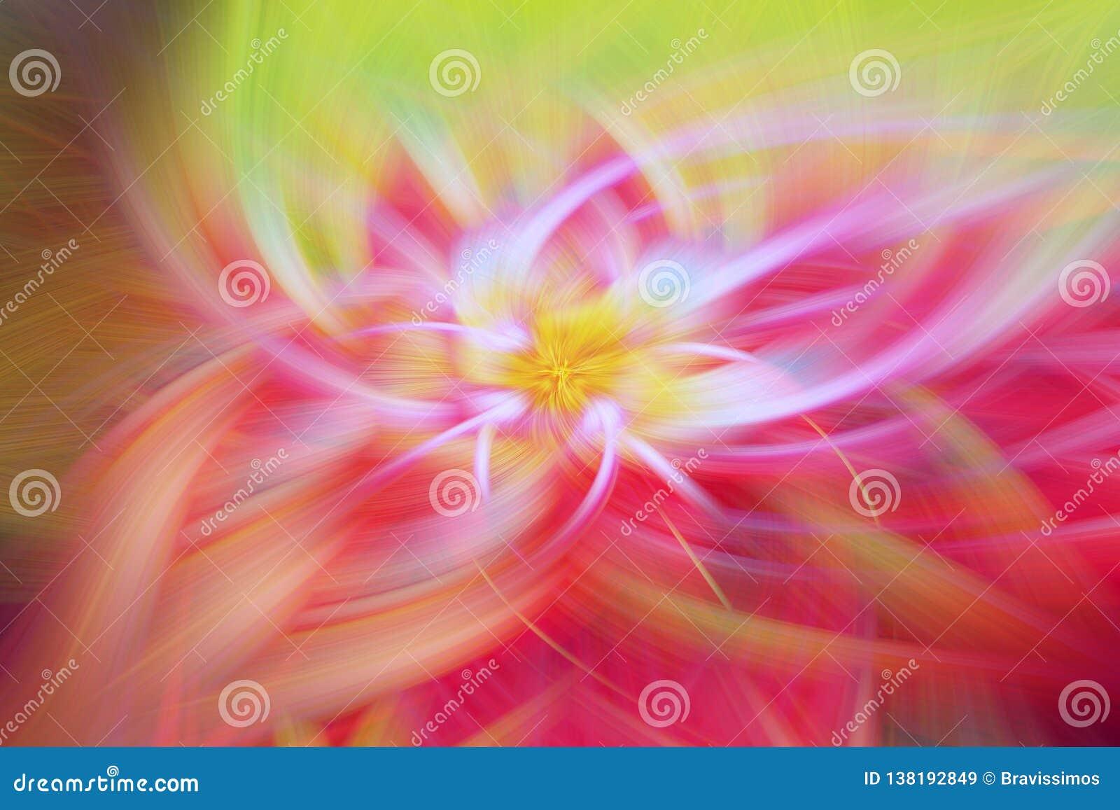 Arte floral da proeminência do fundo do fractal scifi do inferno