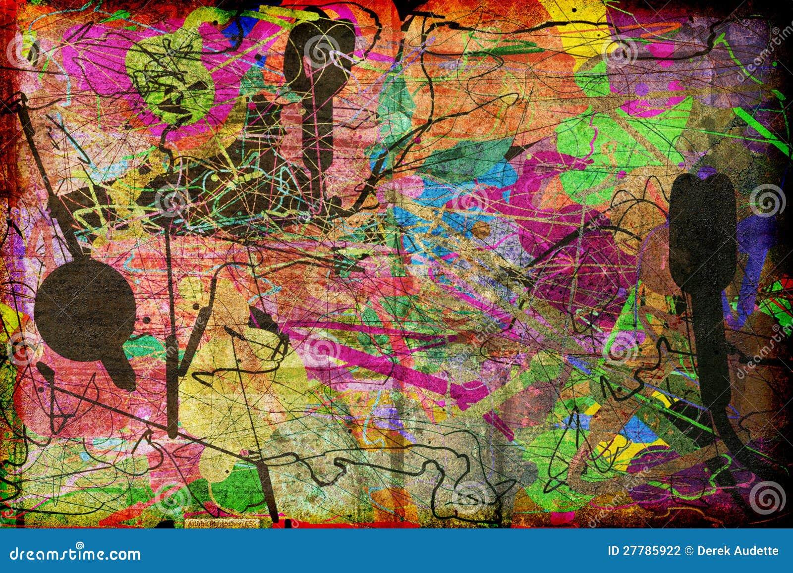 Arte moderna abstrata Textured
