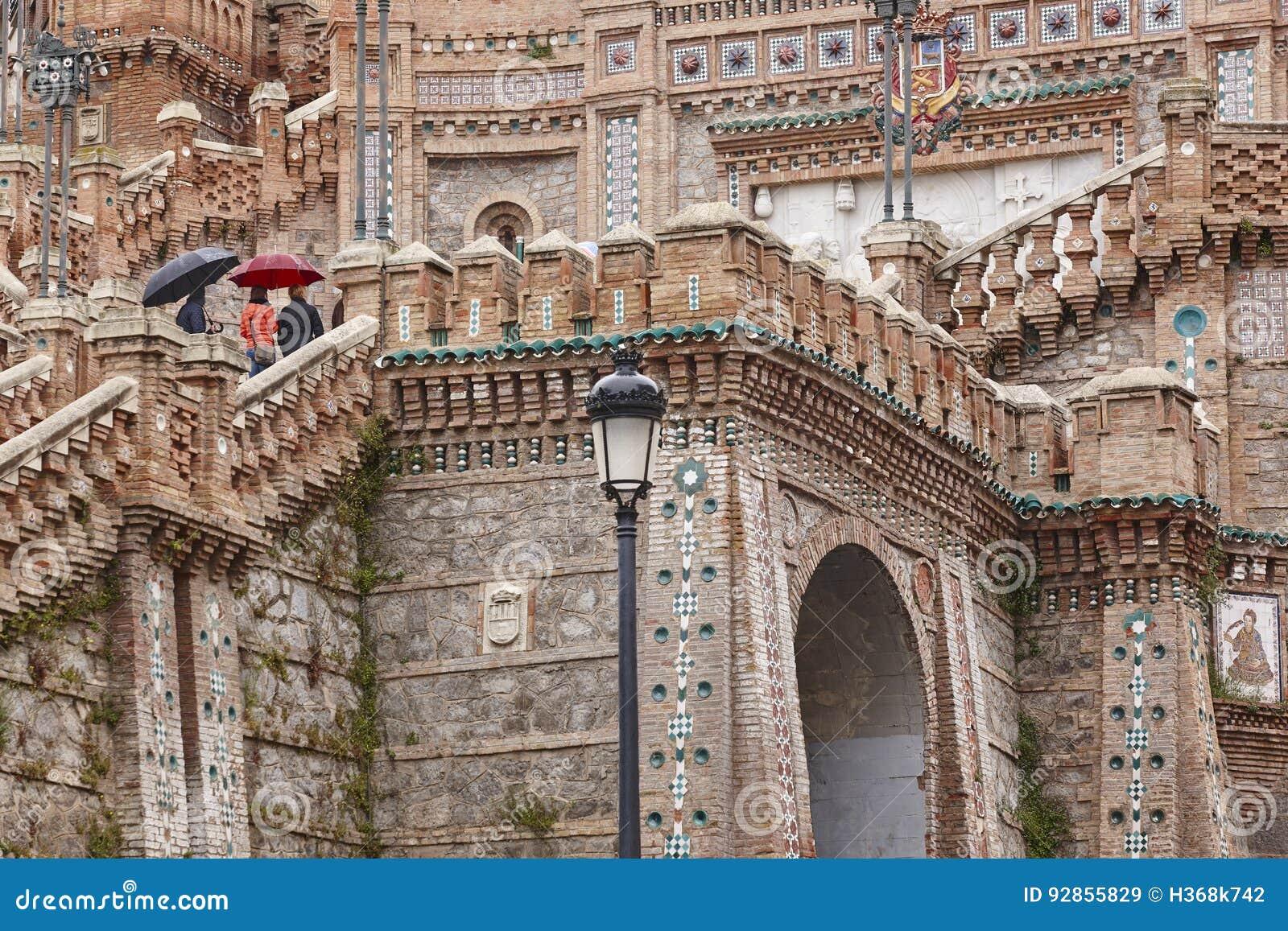 Arte Mudejar Herança espanhola do marco da arquitetura staircase