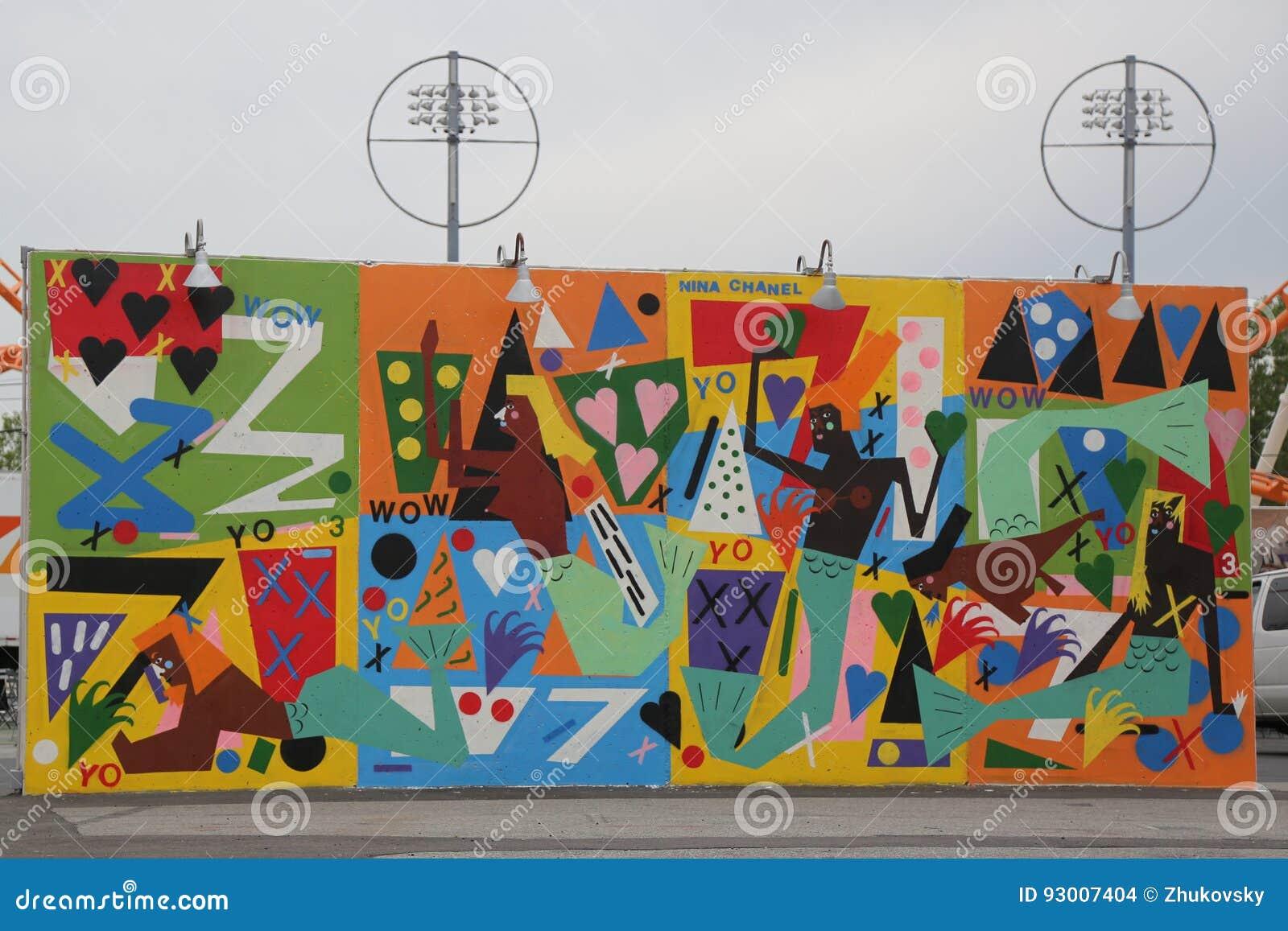 Download Arte Mural Na Pele De Coelho Art Walls Da Atração Da Arte Da Rua Na