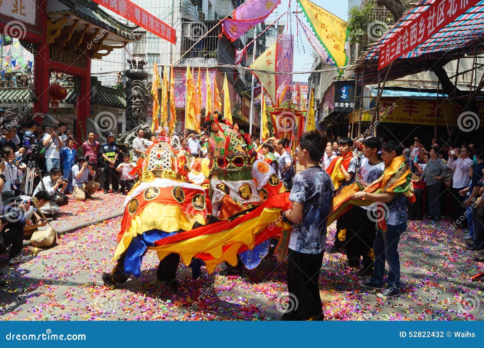 Arte popular de la danza china del kylin