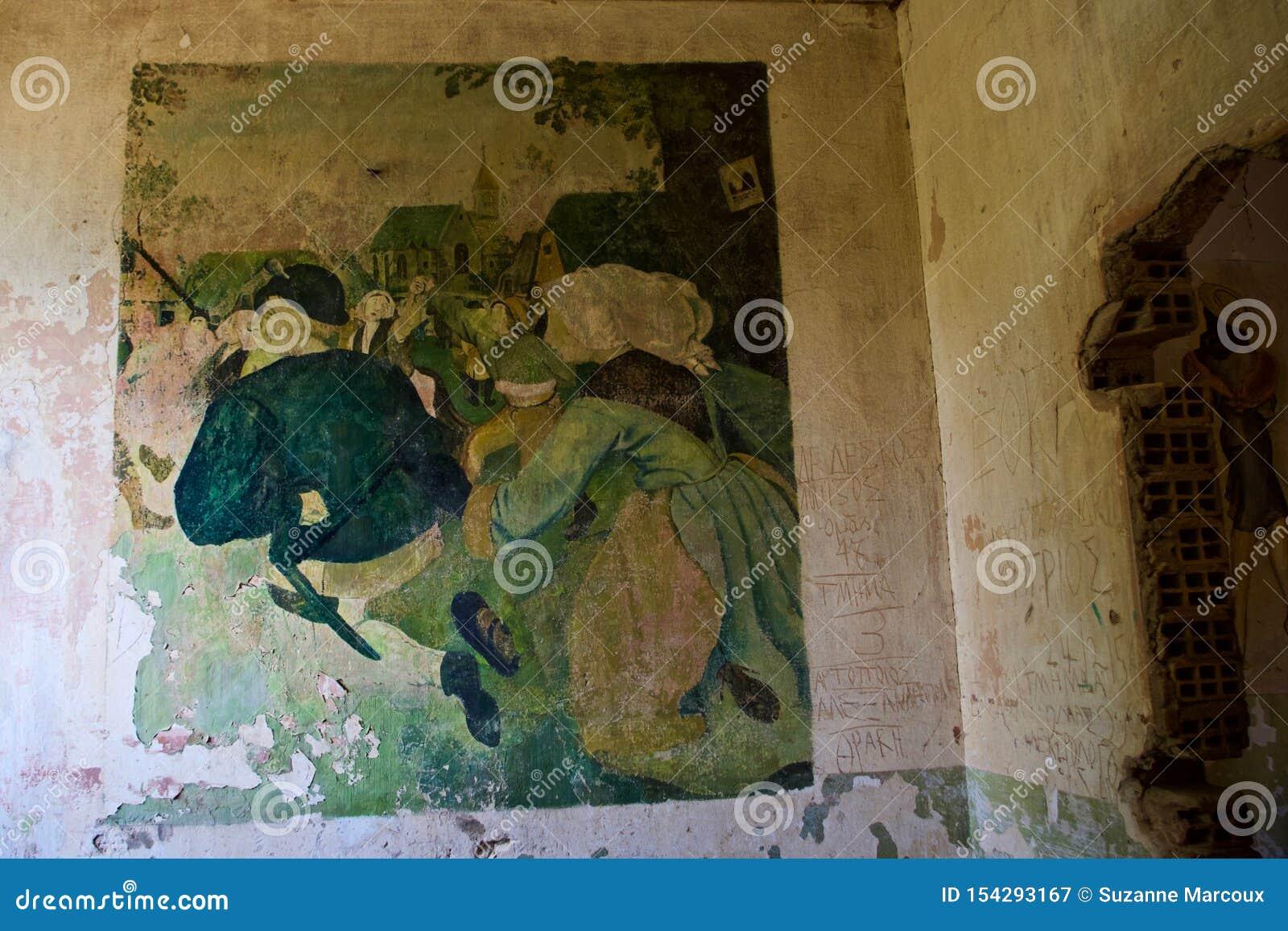 Arte retro do ll da guerra mundial, Diapori, Leros, Grécia