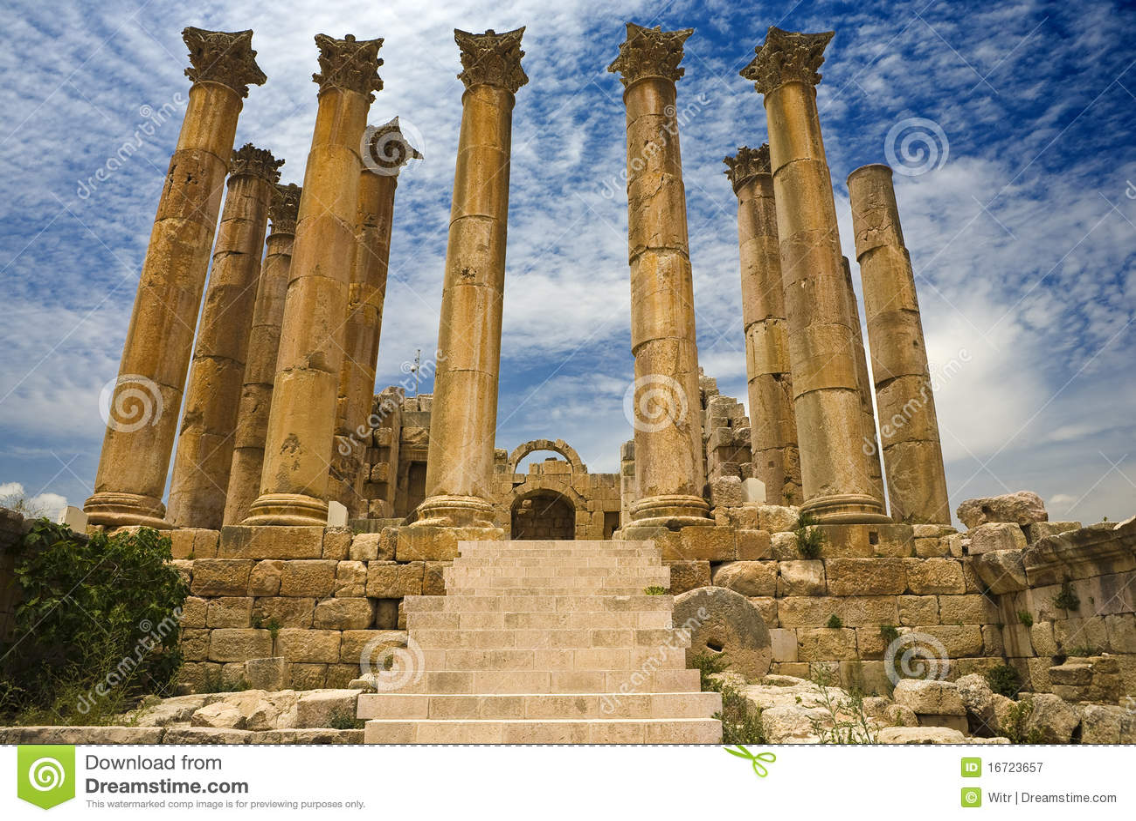 Artemis jerash寺庙