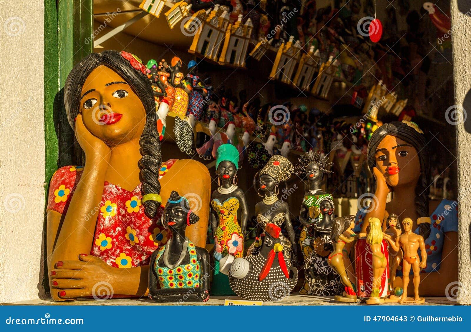 Artesanato Com Papel Mache ~ Artesanato De Baía, Brasil Foto de Stock Editorial Imagem 47904643