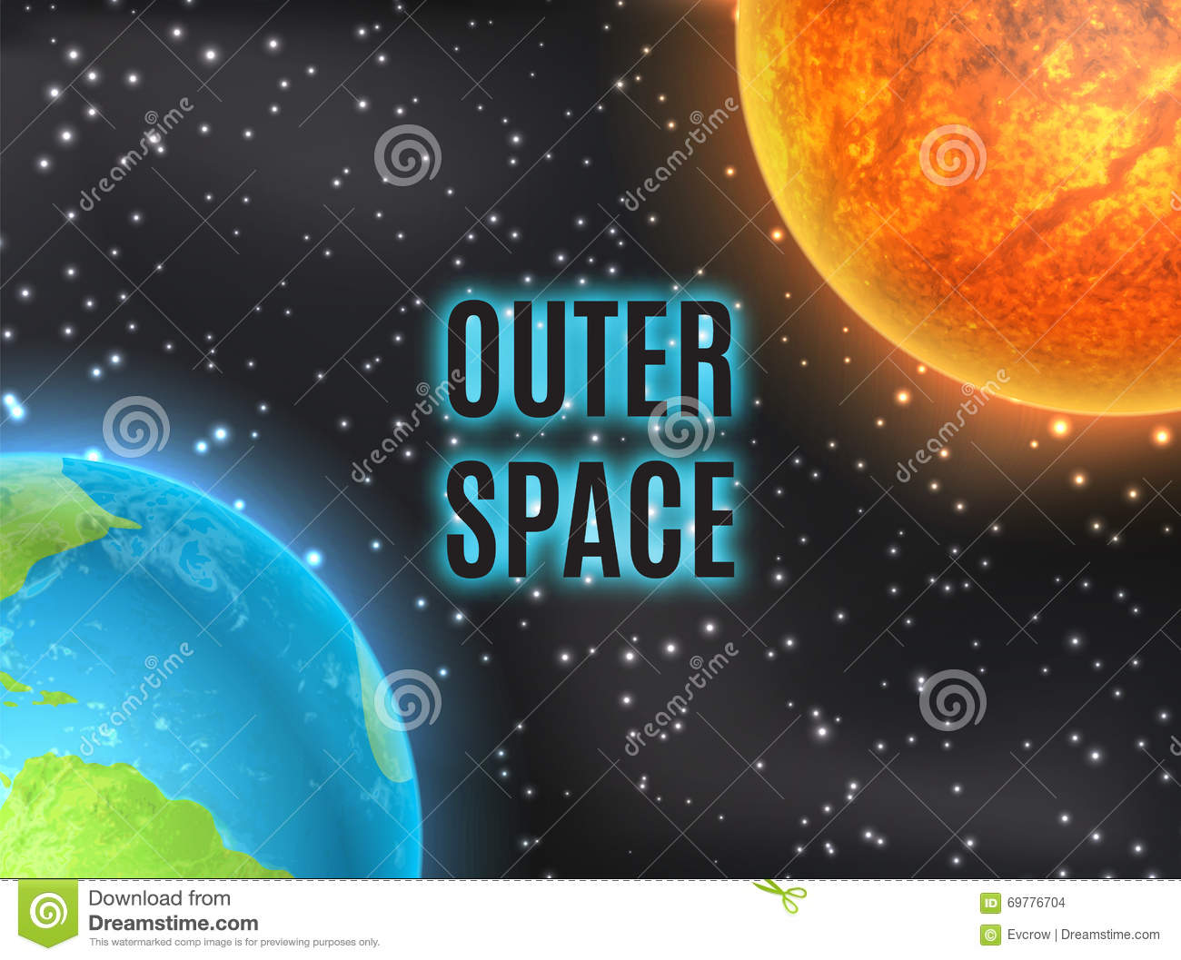 Arth and sun stock vector image 69776704 for Outer space elements