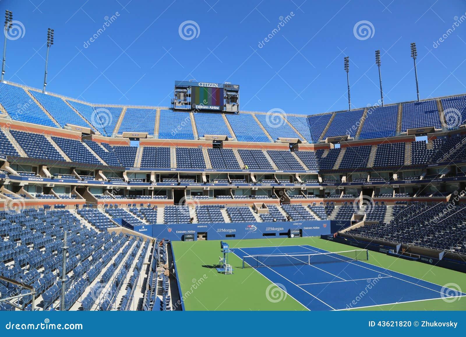 Arthur Ashe stadium przy Billie Cajgowego królewiątka tenisa Krajowym centrum przygotowywającym dla us open turnieju