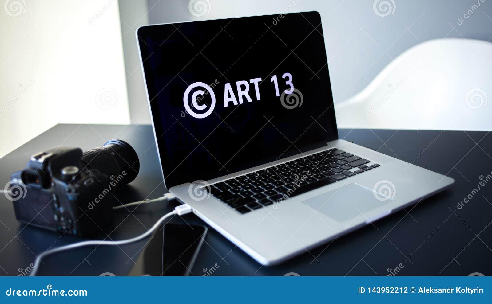 Article 13 l amendement aux matériaux interdits par législation de l UE de médias sur l Internet