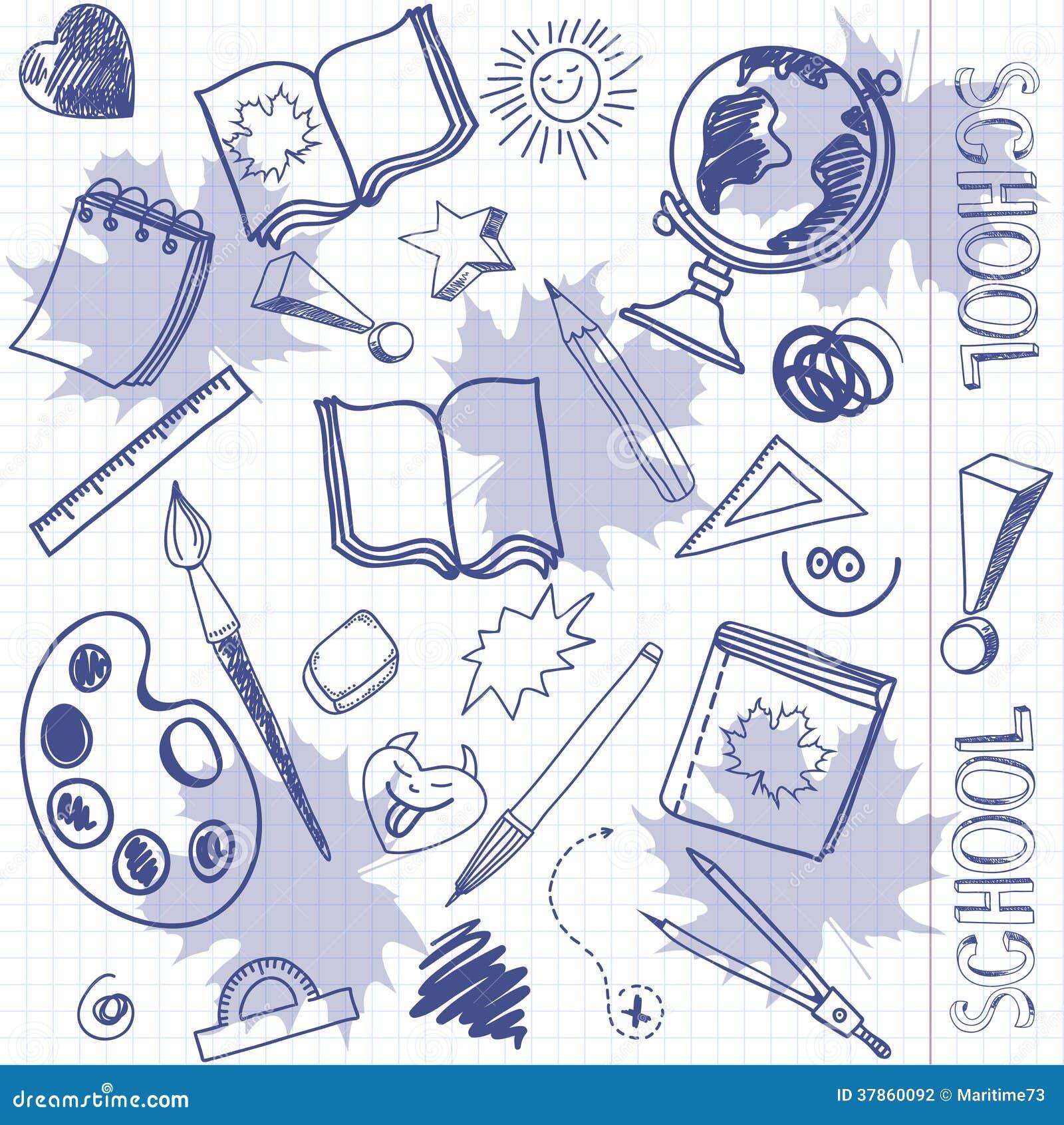 Dessin Avec La Main articles d'école de dessin de dessin à main levée sur une