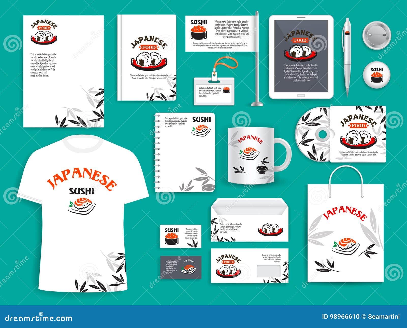 Articles De Vecteur D Identit Entreprise Pour Les Sushi Japonais