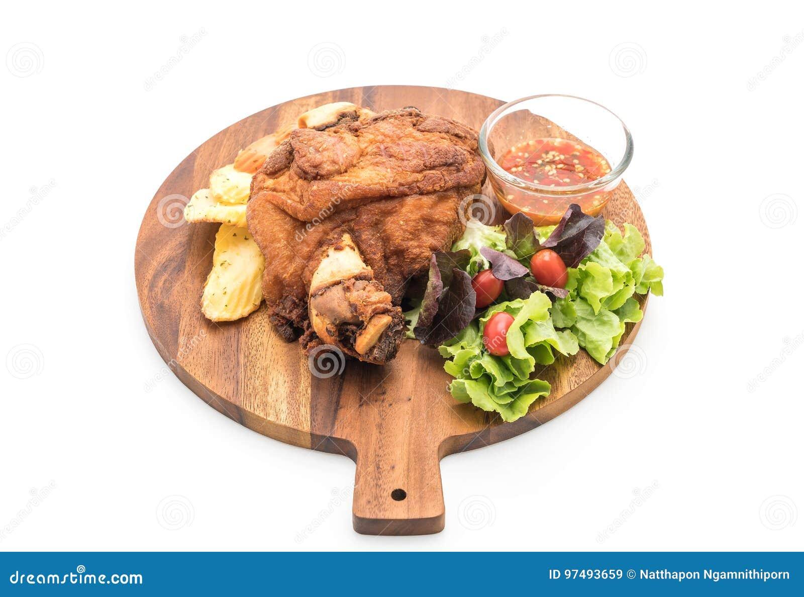 Articolazione croccante della carne di maiale o vino del Reno tedesco della carne di maiale