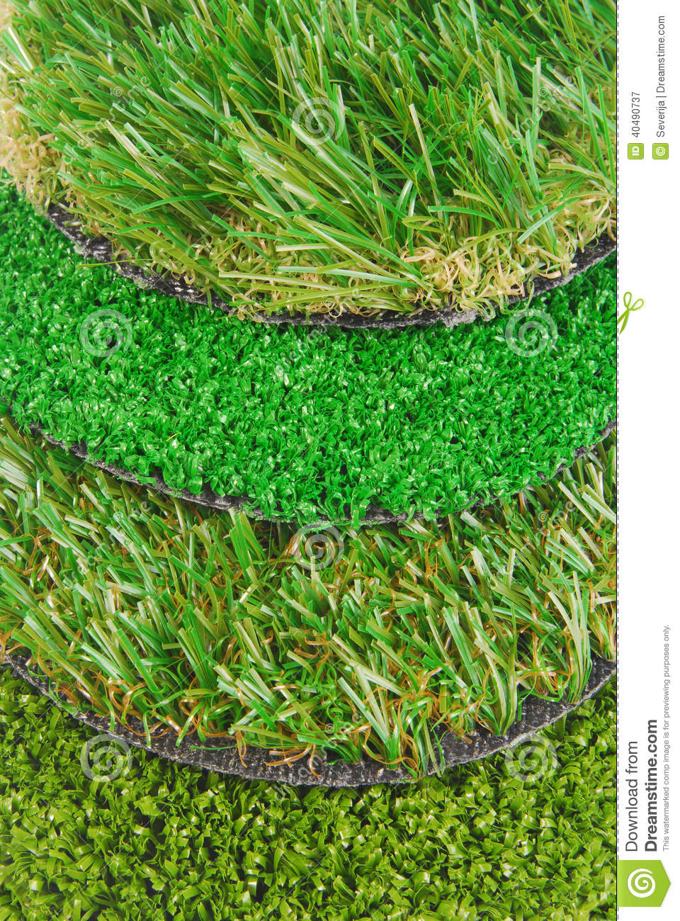 Artificial Astro Turf Grass Samples Stock Photo Image