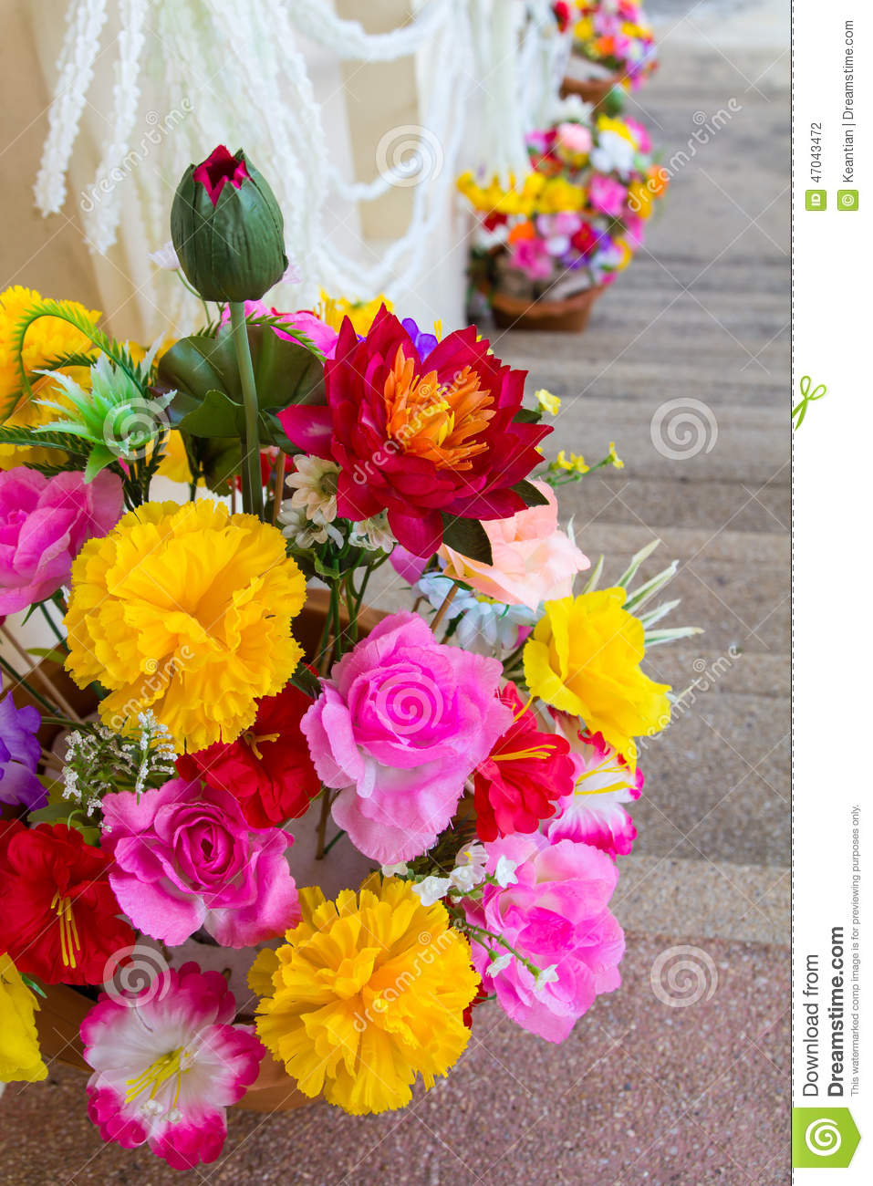 Artificial fake flowers stock photo image of floral 47043472 artificial fake flowers izmirmasajfo