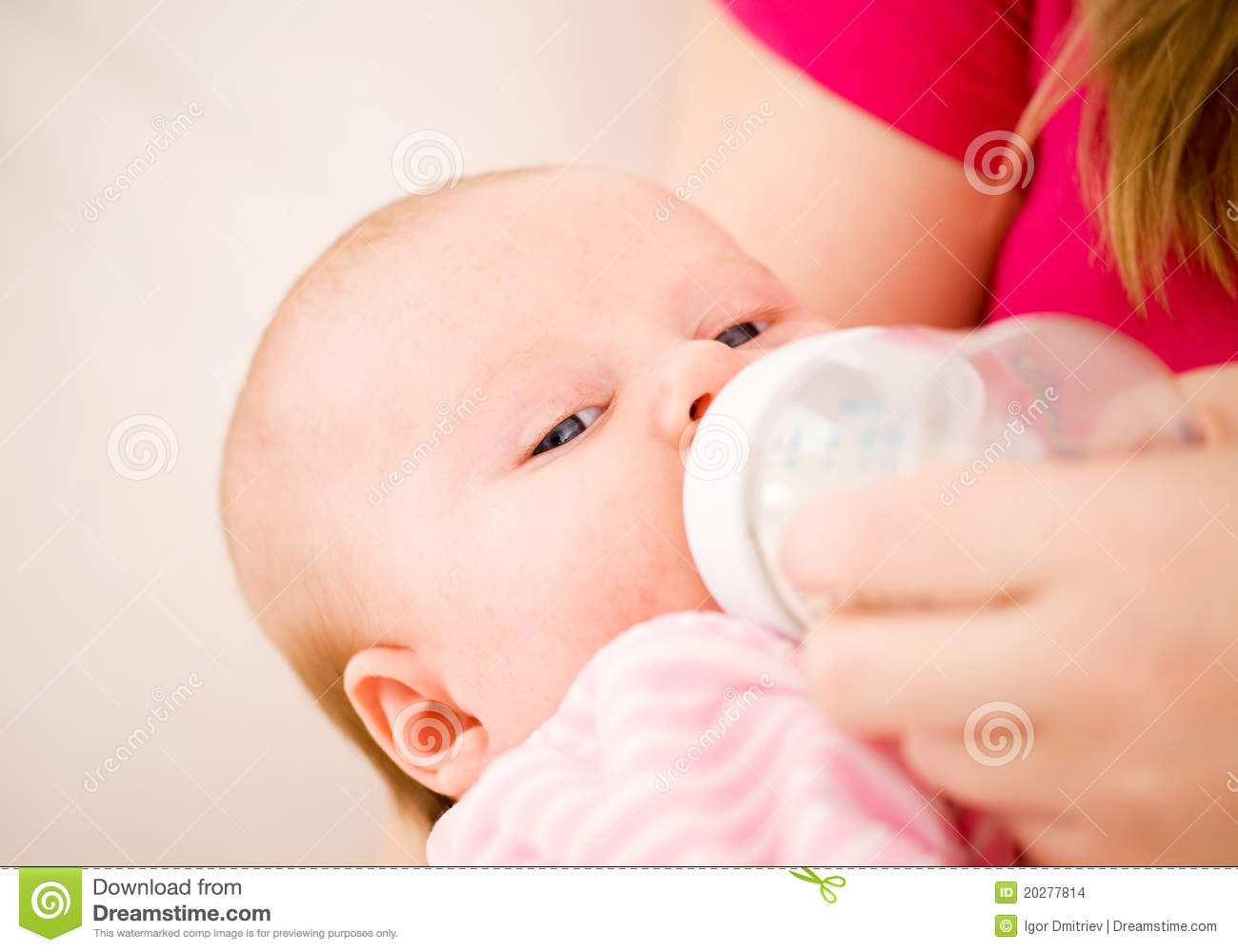 artificial feeding of children stock images image 20277814