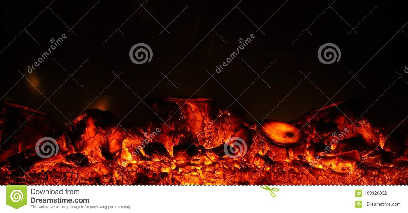 Artificial fireplace as cosiness and fireplace background.