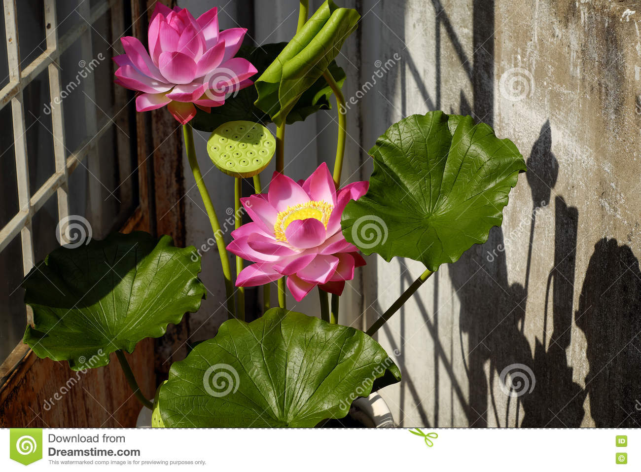 Artificial Flower Lotus Flower From Clay Stock Image Image Of