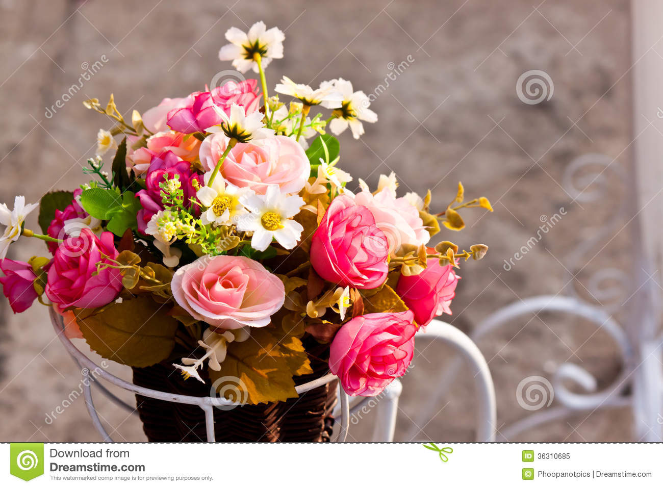 artificial flowers royalty free stock photo image 36310685. Black Bedroom Furniture Sets. Home Design Ideas