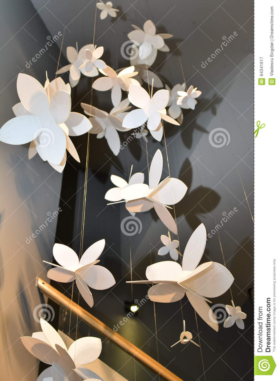 Artificial Flowers For Interior Design Stock Photo