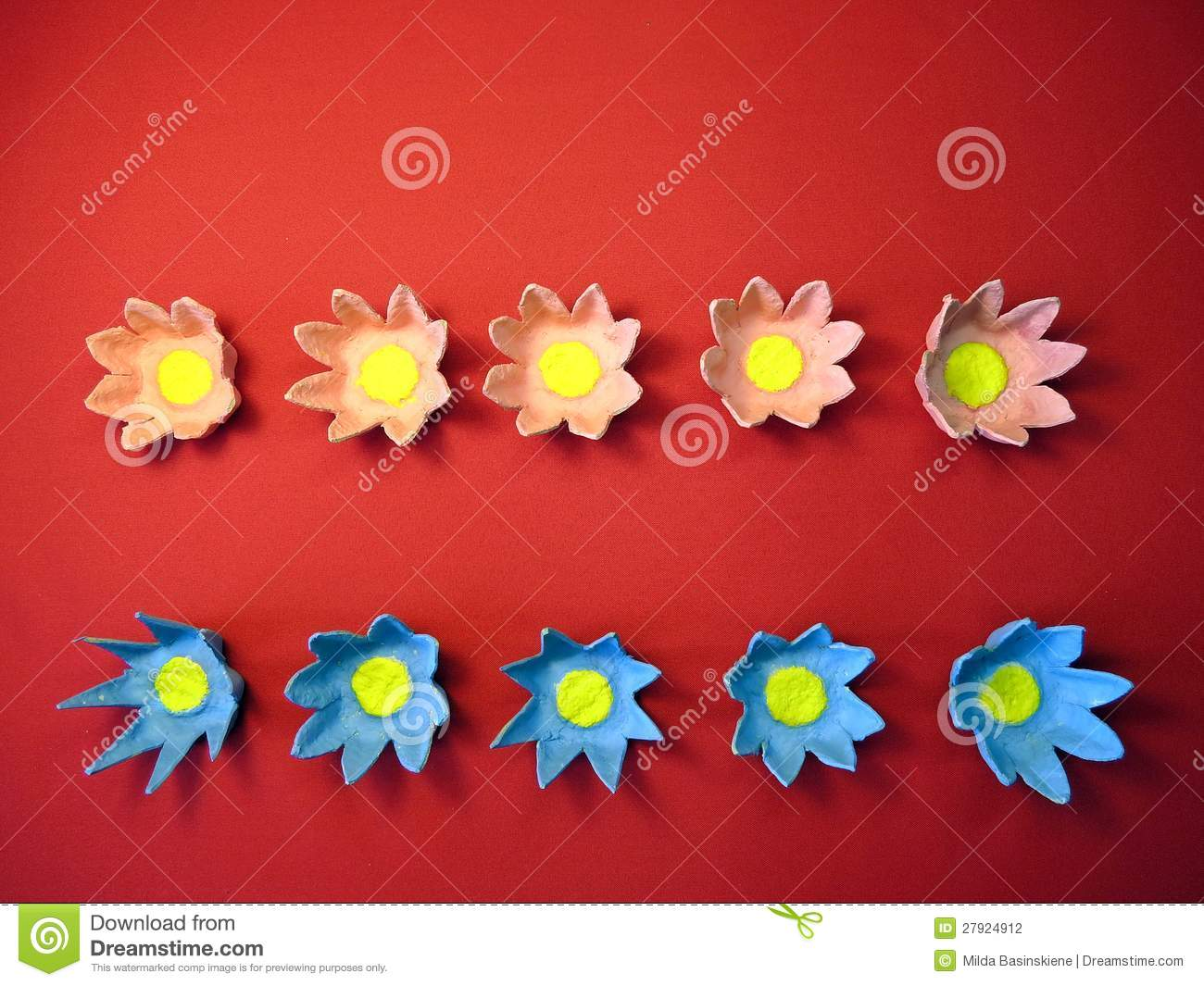 Artificial Flowers Made From Paper Stock Photo Image Of Paper