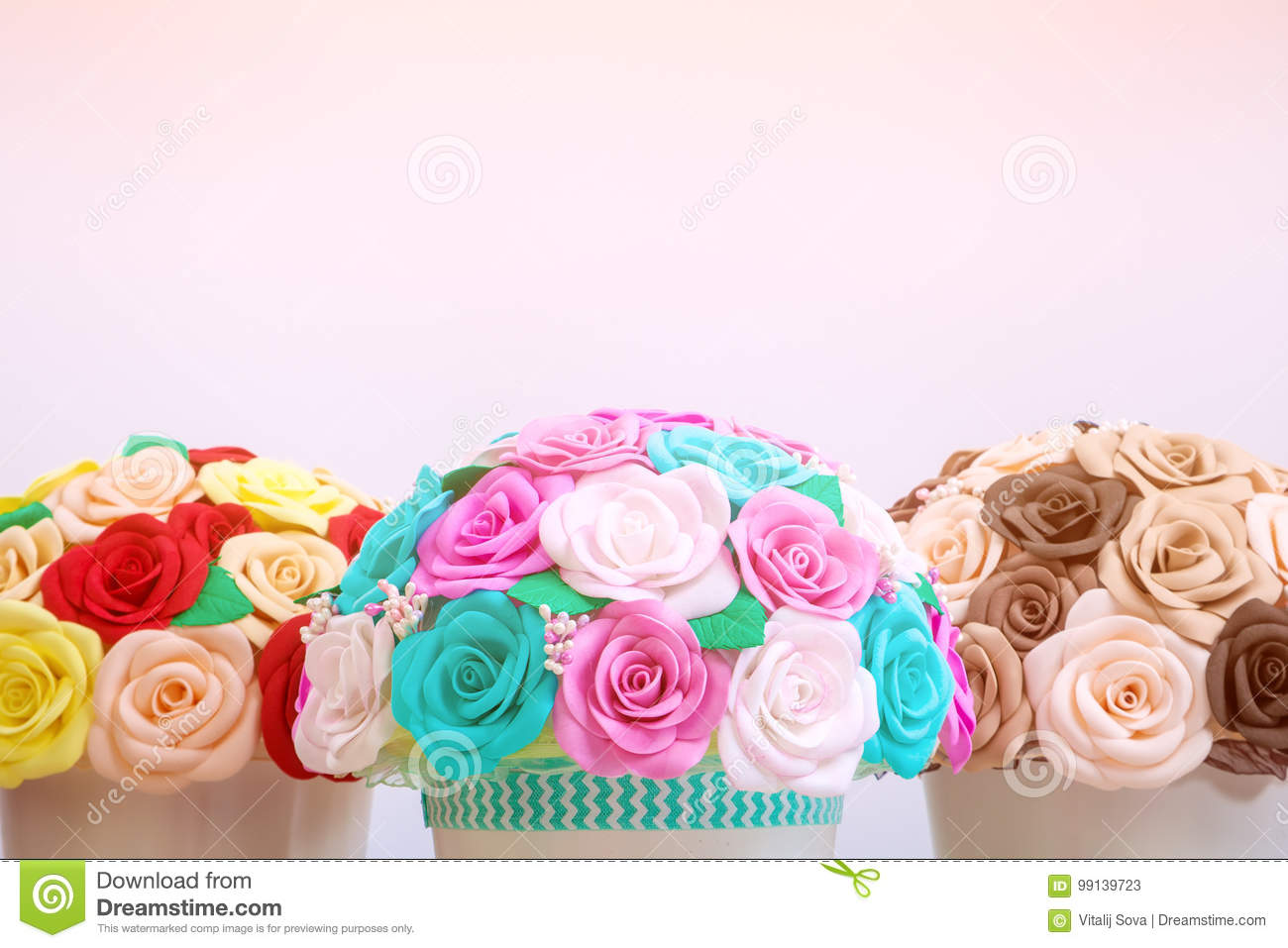 Artificial Flowers Roses From Foam Stock Image Image Of Lovely