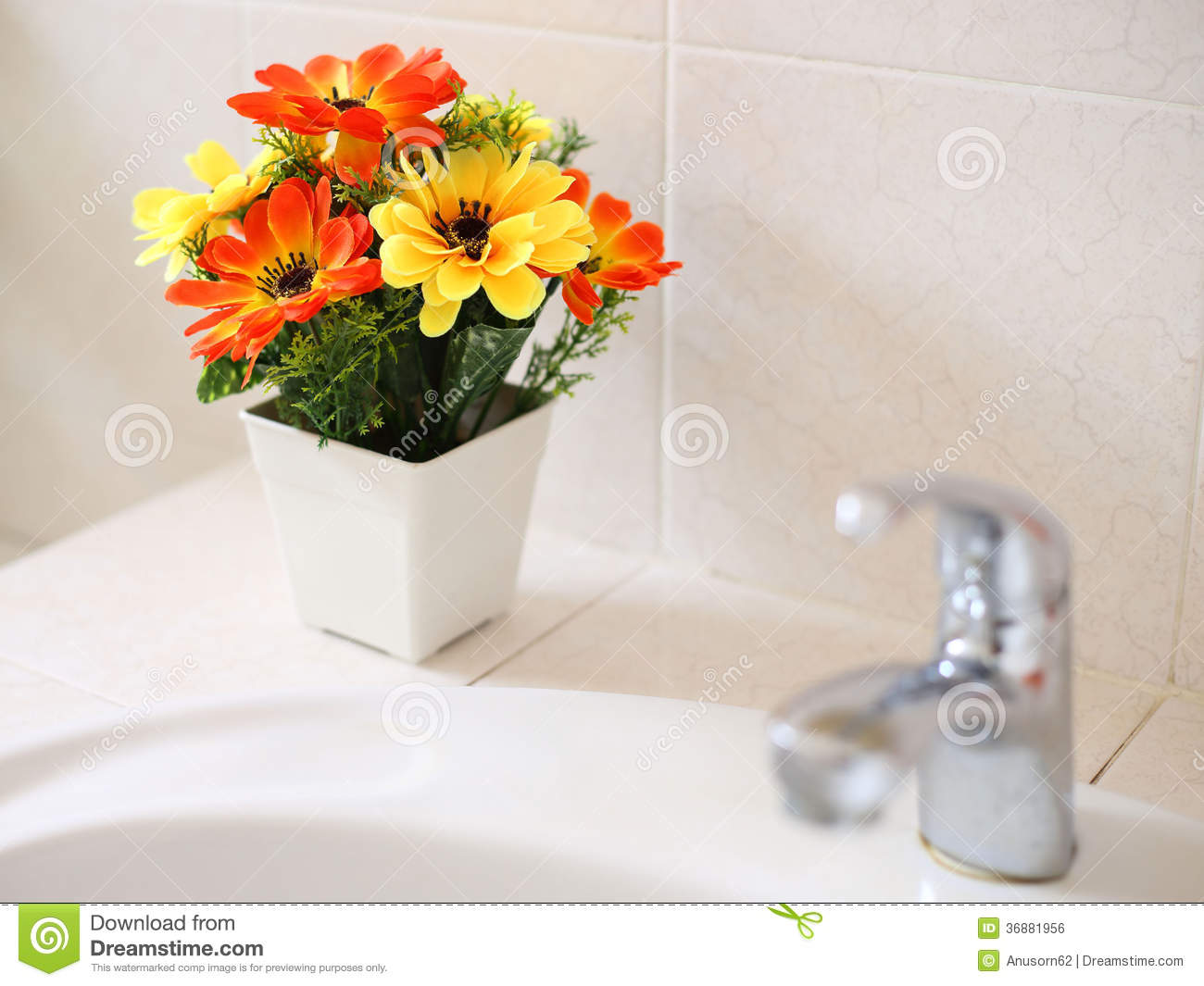 Artificial flowers at wash basin stock photo image of decoration download artificial flowers at wash basin stock photo image of decoration inside 36881956 mightylinksfo