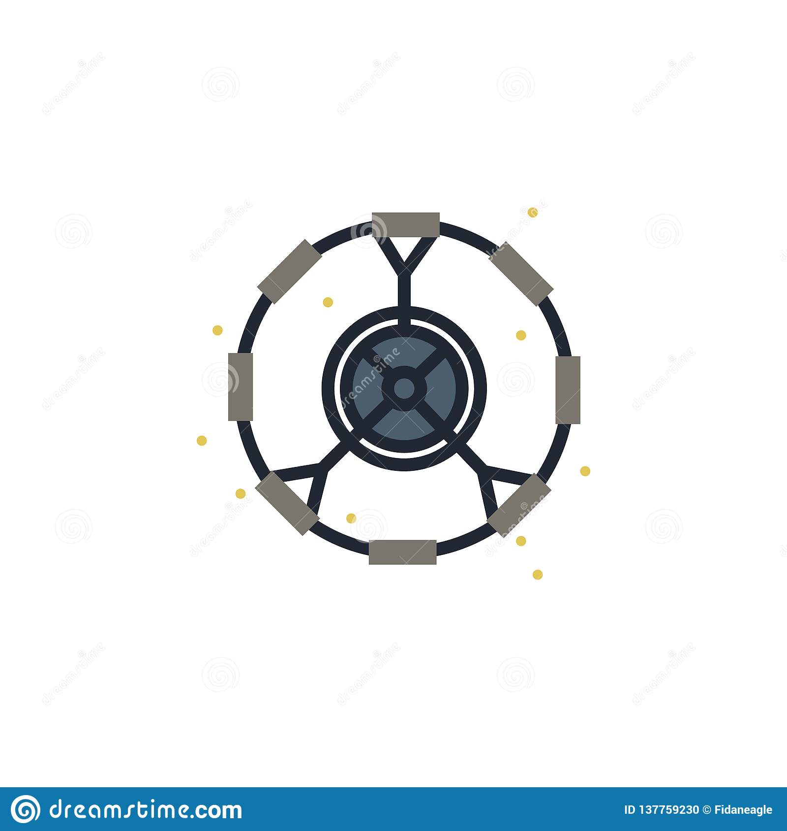 Artificial, gravity, modulo colored icon. Element of space illustration. Signs and symbols icon can be used for web, logo, mobile
