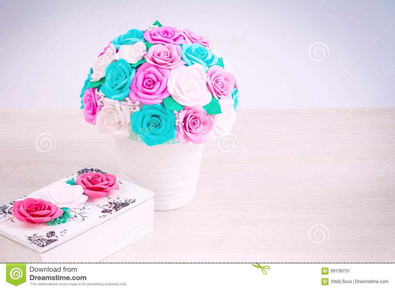 Artificial flowers roses from foam stock image image of card artificial flowers roses from foam mightylinksfo
