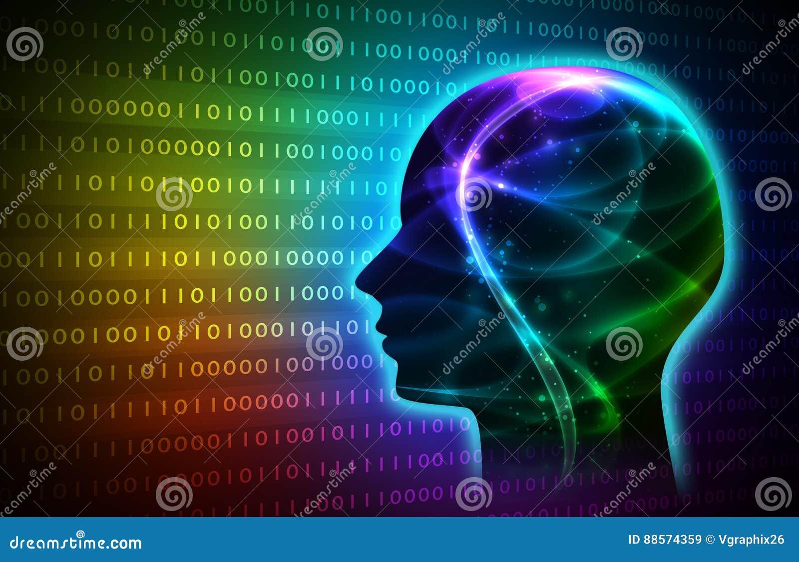 Artificial inteligente azul imagem de fundo da ilustração