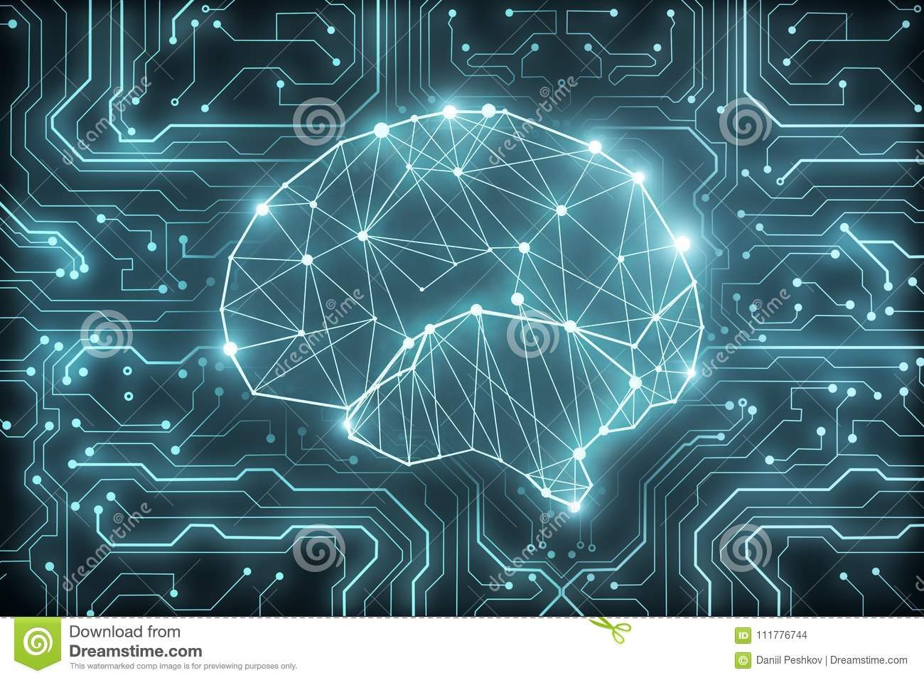 Artificial intelligence and computing concept