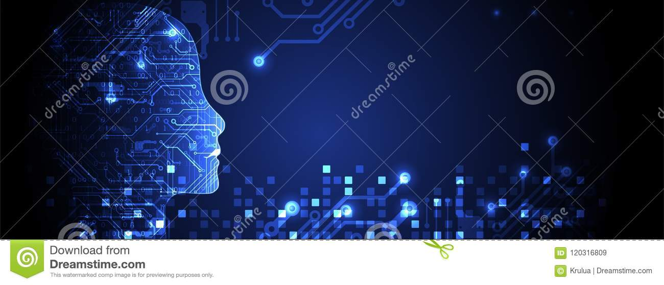Artificial intelligence concept. Technology background.