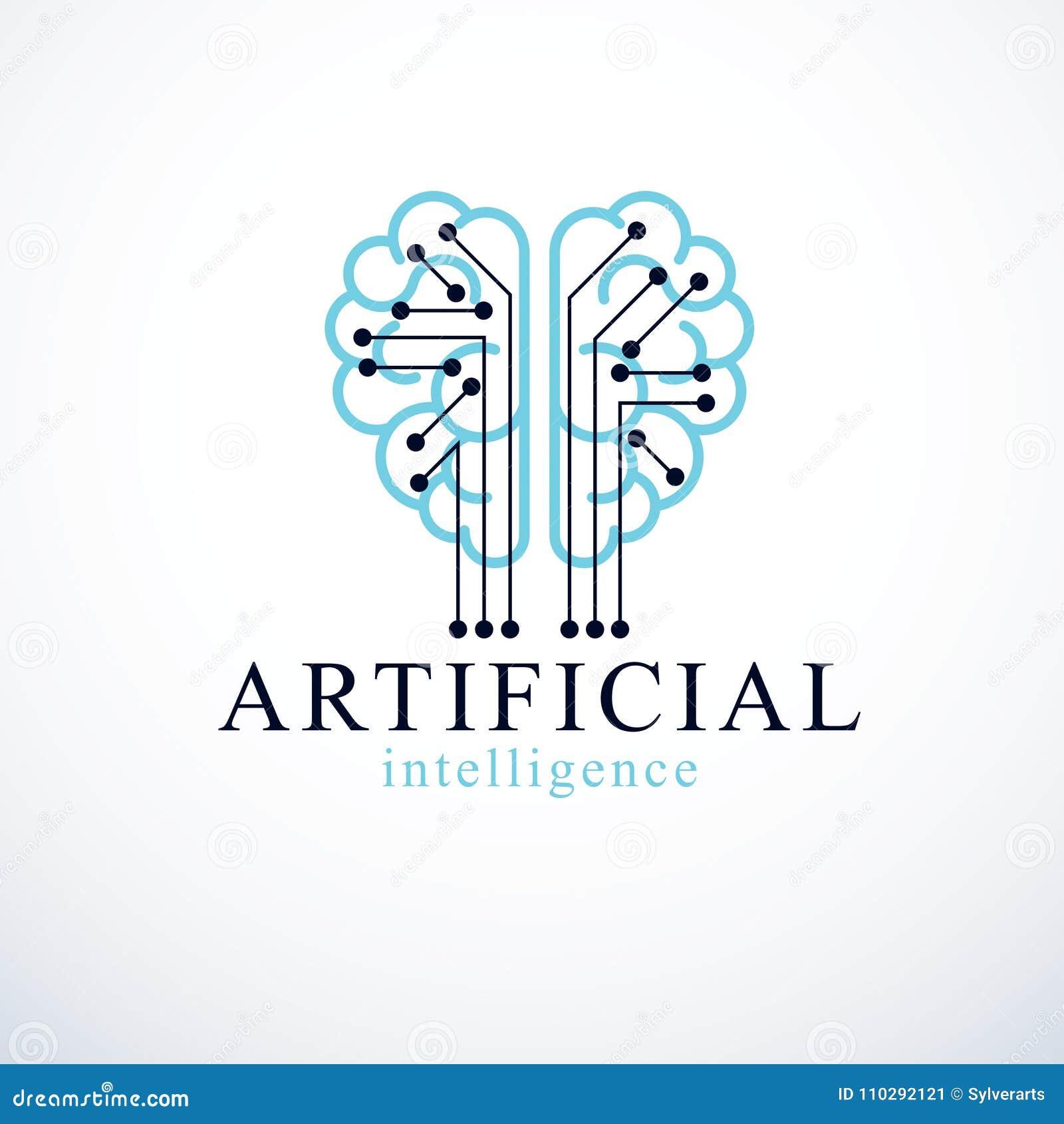 Artificial Intelligence Concept Vector Logo Design. Human Anatom ...