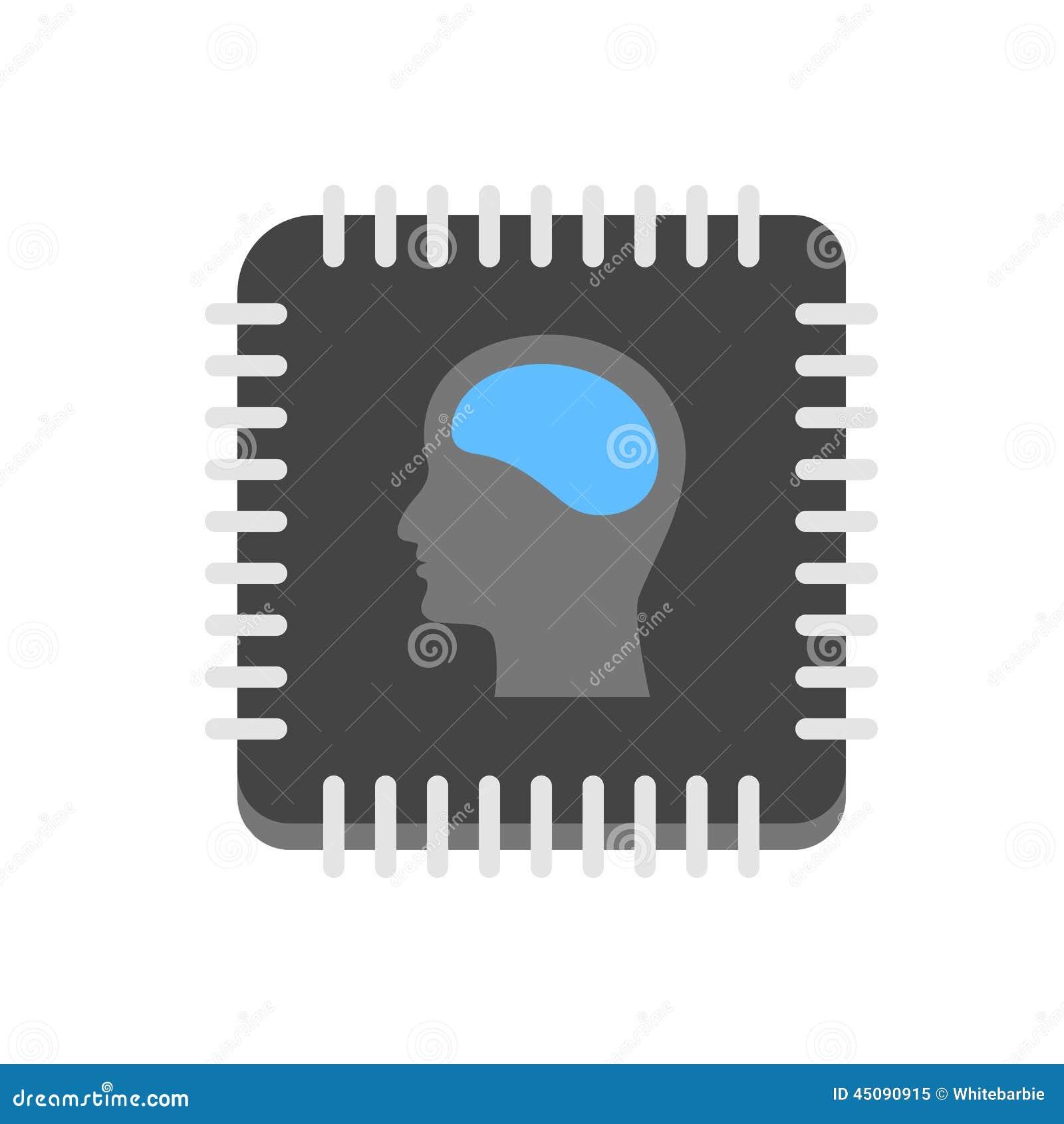 Artificial Intelligence Icon Stock Vector - Image: 45090915 Human Head Brain Vector