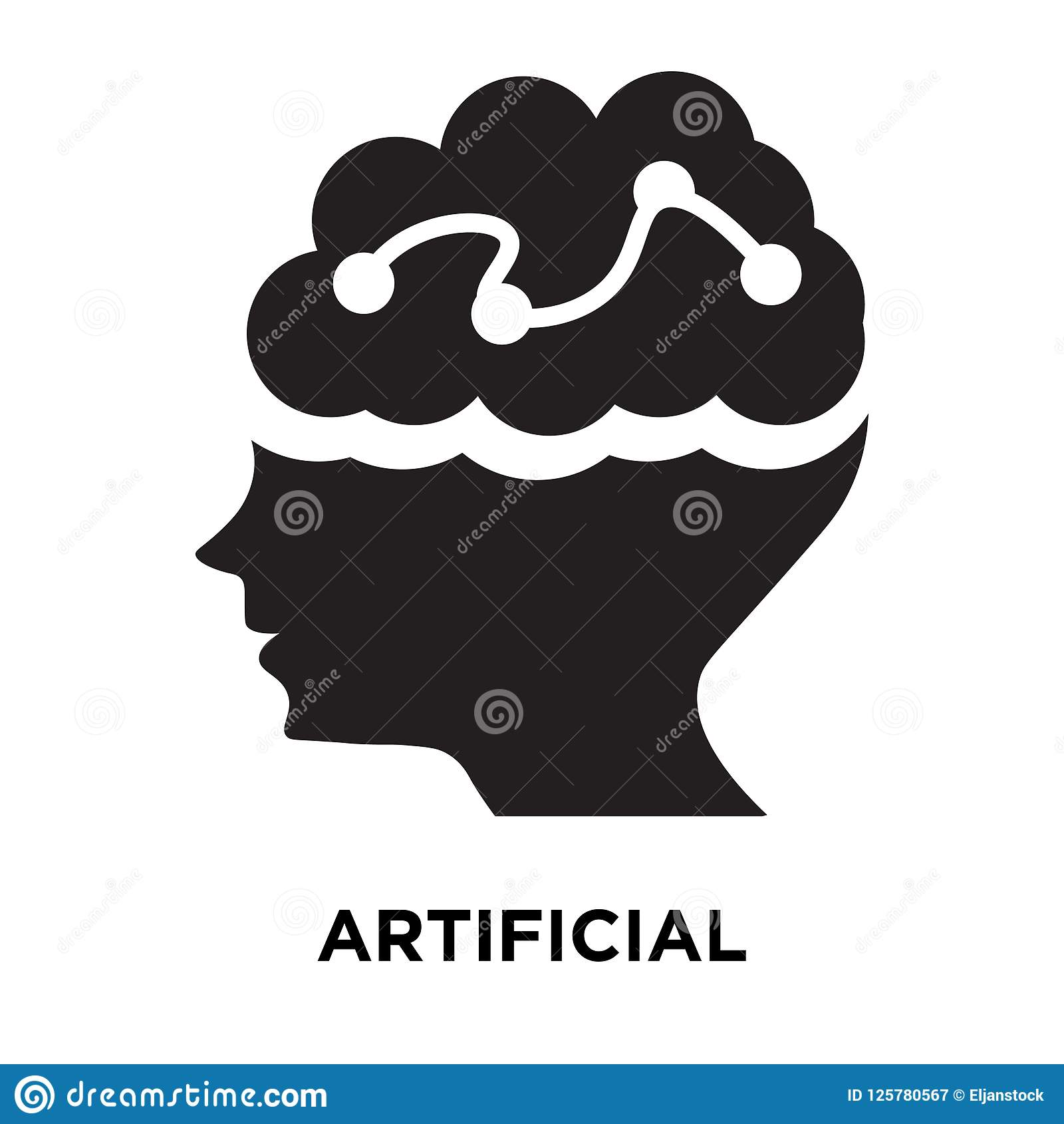 Artificial intelligence icon vector isolated on white background