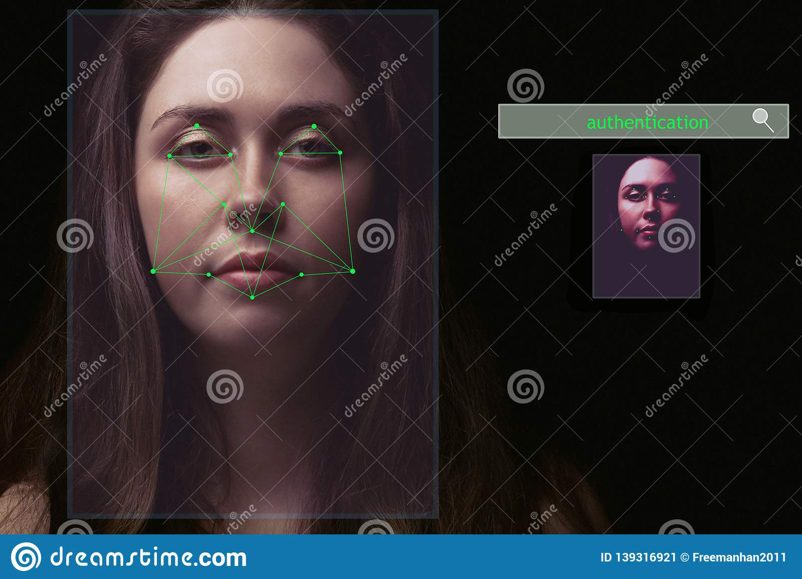 Artificial intelligence identifies the face of a match in the database