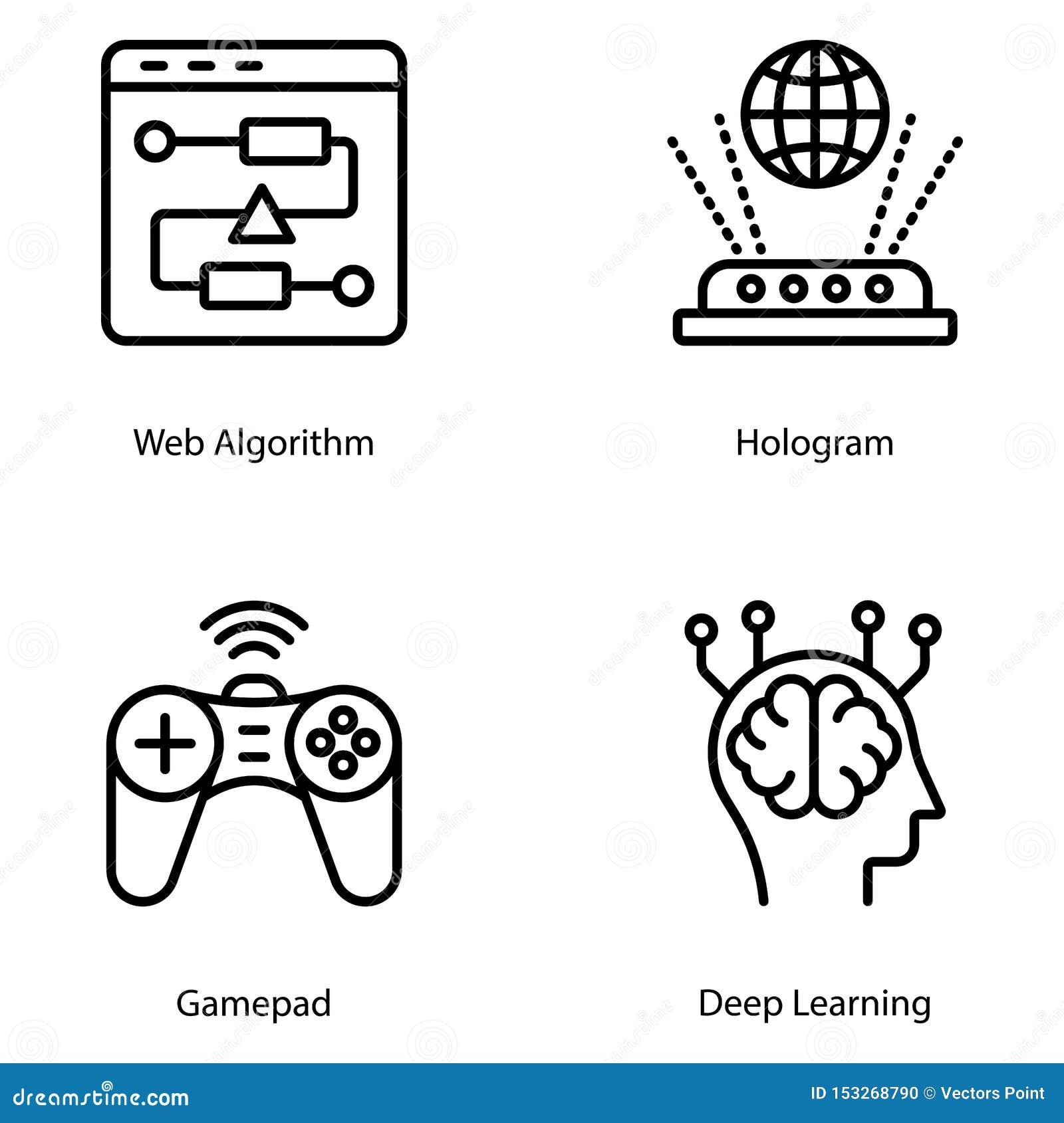 Artificial Intelligence Line Vectors Pack