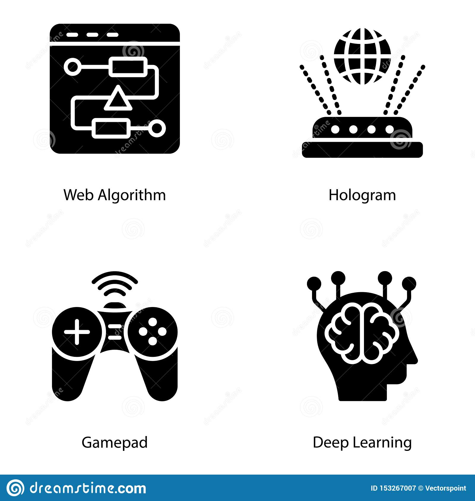 Artificial Intelligence Solid Vectors Pack