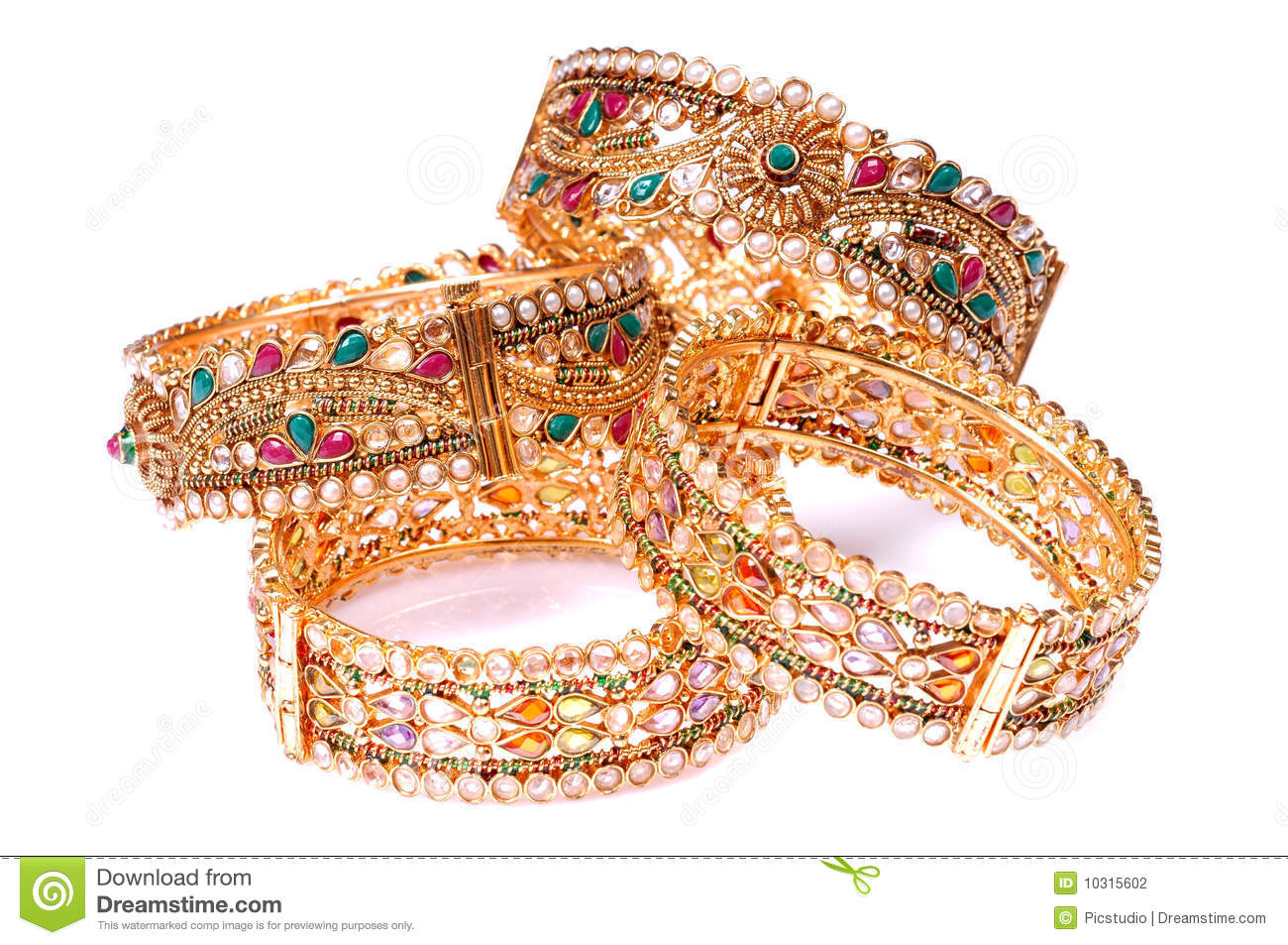 Artificial Jewellery Stock Photo Image Of Golden Polki