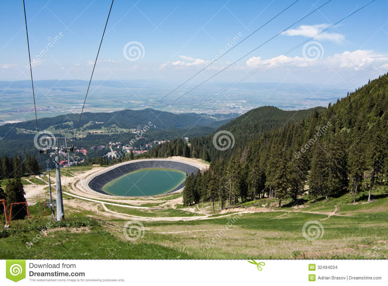 Artificial Lake For Artificial Snow Stock Photo Image