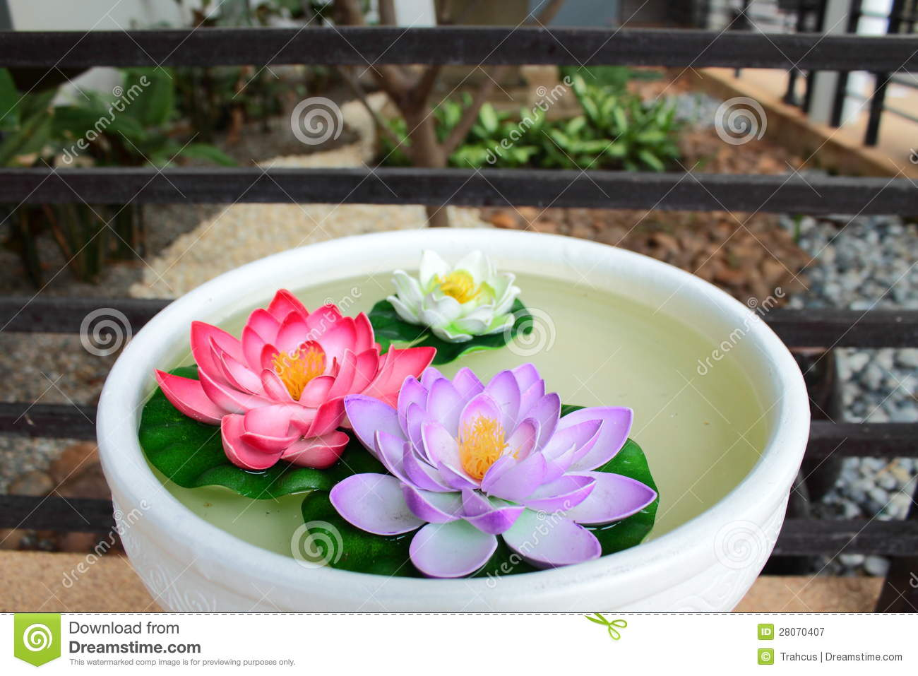 Artificial Lotus From Plastic Stock Image Image Of Manufacture