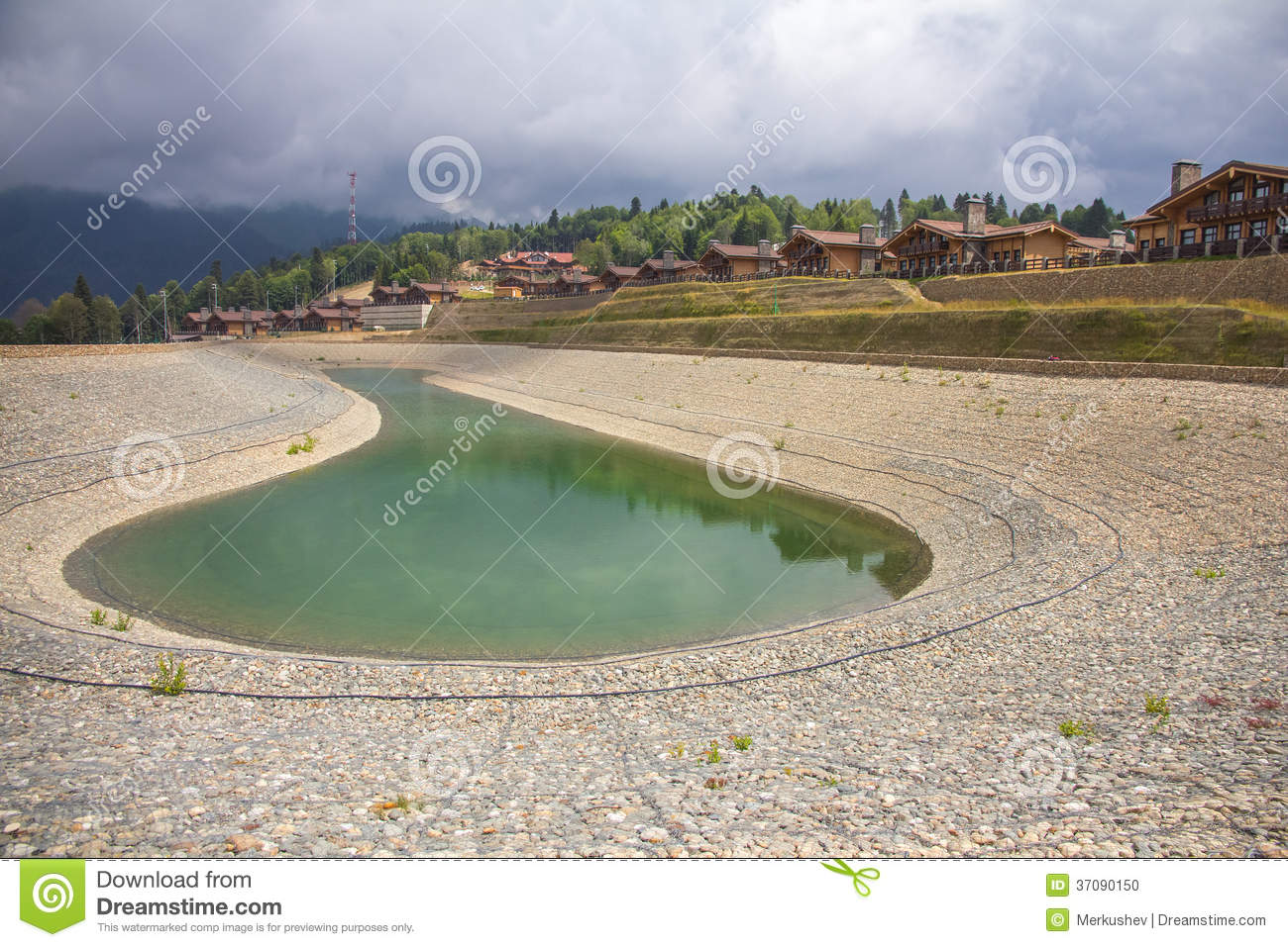 Artificial pond stock photo image 37090150 for Artificial pond water