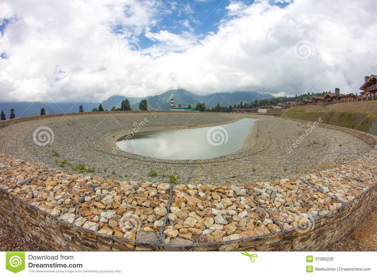 Artificial pond royalty free stock image image 37090226 for Artificial pond water