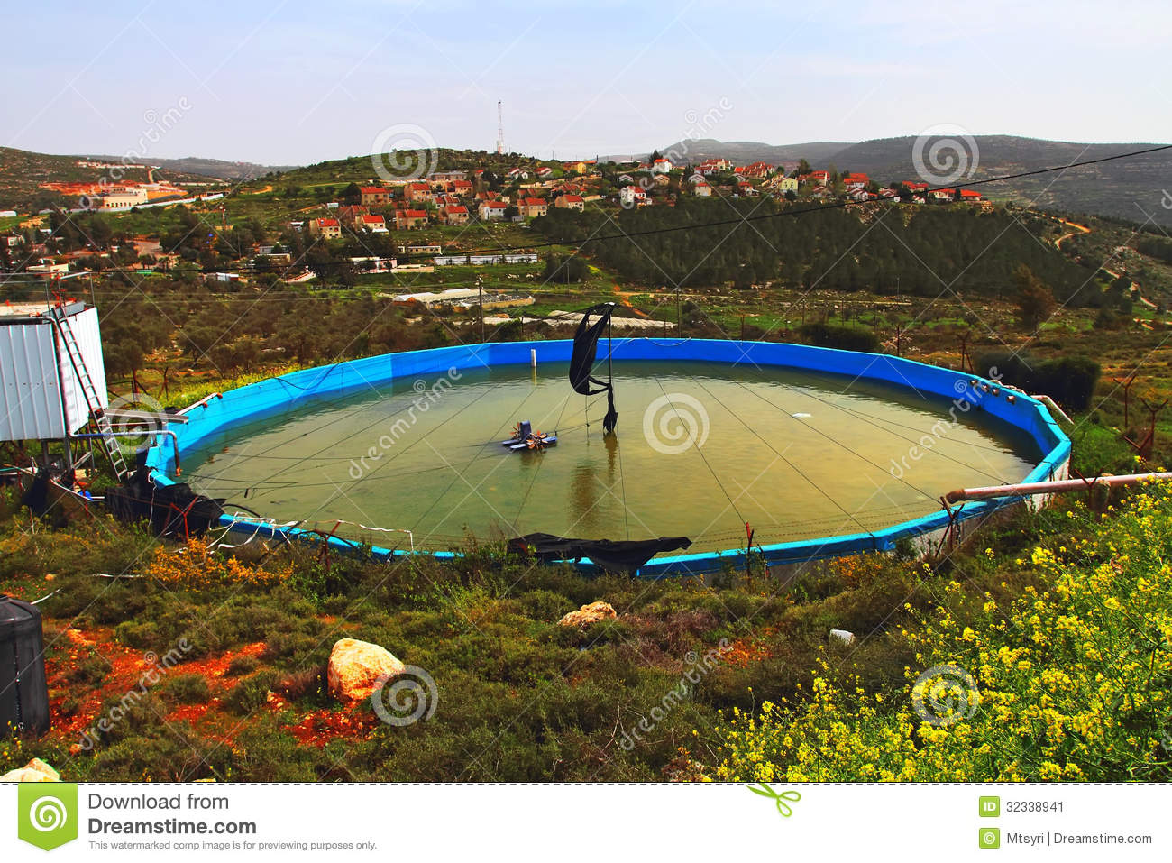 Artificial pond stock image image 32338941 for Artificial pond water