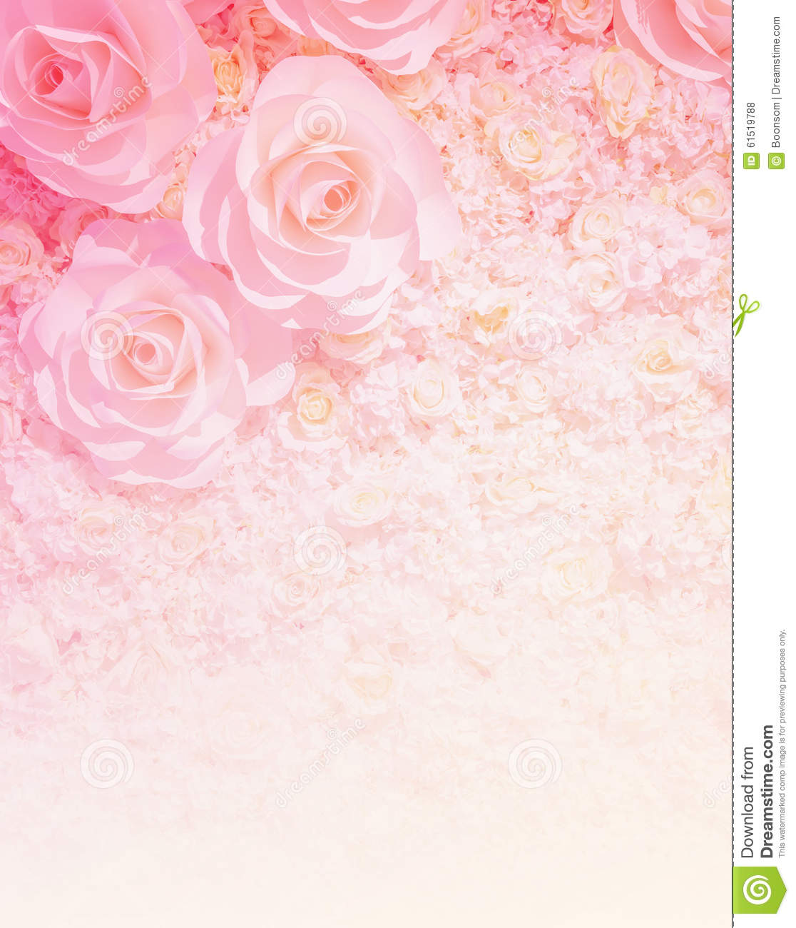 Artificial Rose Flower Background Stock Photo Image Of Effect
