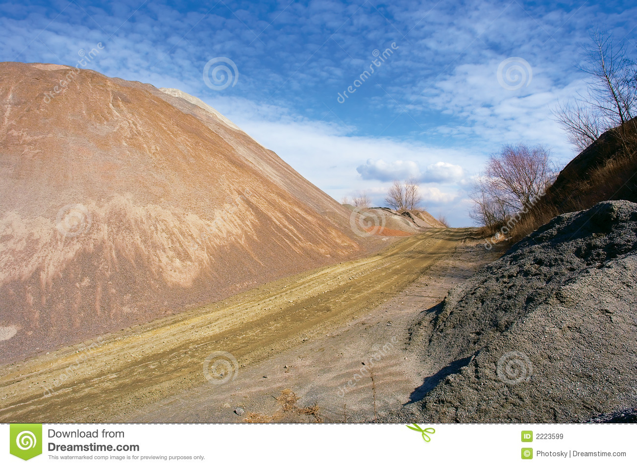 Artificial Stone Hill And Road Royalty Free Stock Images